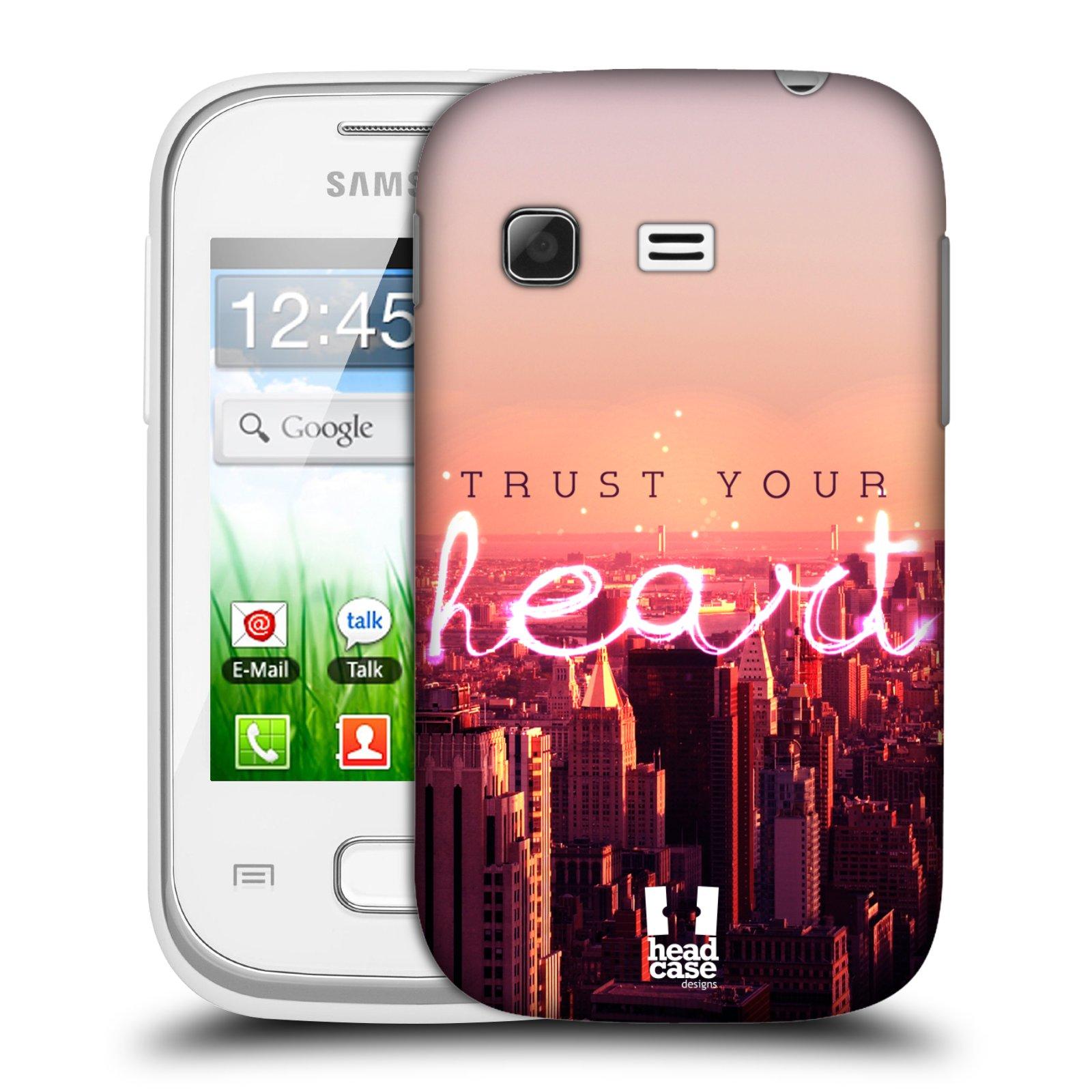 Plastové pouzdro na mobil Samsung Galaxy Pocket HEAD CASE TRUST YOUR HEART (Kryt či obal na mobilní telefon Samsung Galaxy Pocket GT-S5300)