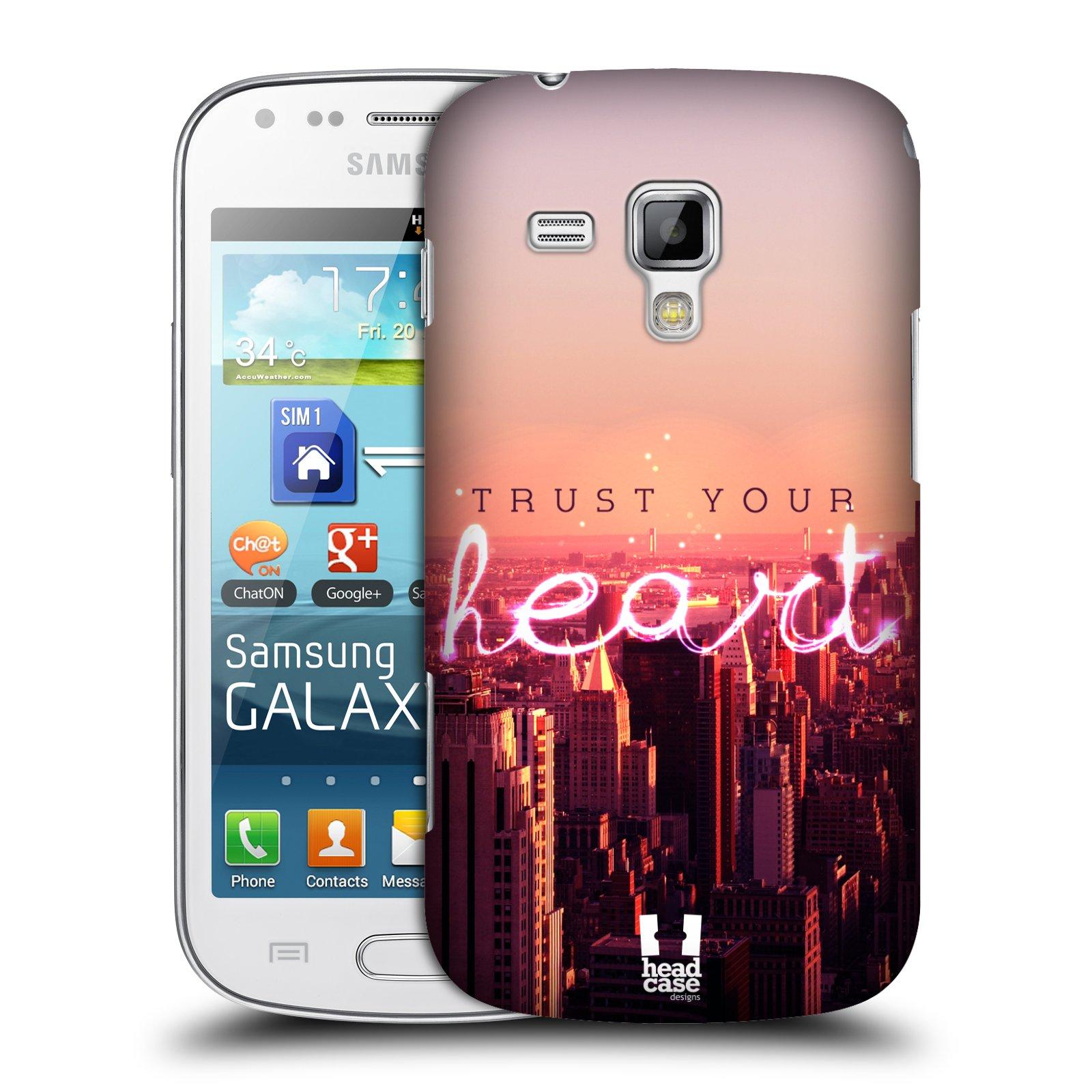 Plastové pouzdro na mobil Samsung Galaxy Trend HEAD CASE TRUST YOUR HEART (Kryt či obal na mobilní telefon Samsung Galaxy Trend GT-S7560)