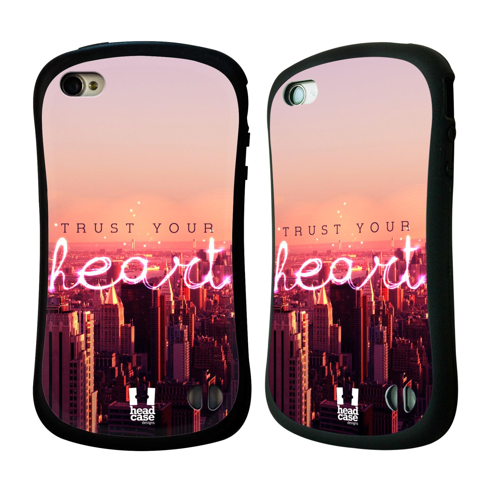 Nárazuvzdorné pouzdro na mobil Apple iPhone 4 a 4S HEAD CASE TRUST YOUR HEART (Odolný nárazuvzdorný silikonový kryt či obal na mobilní telefon Apple iPhone 4 a 4S)