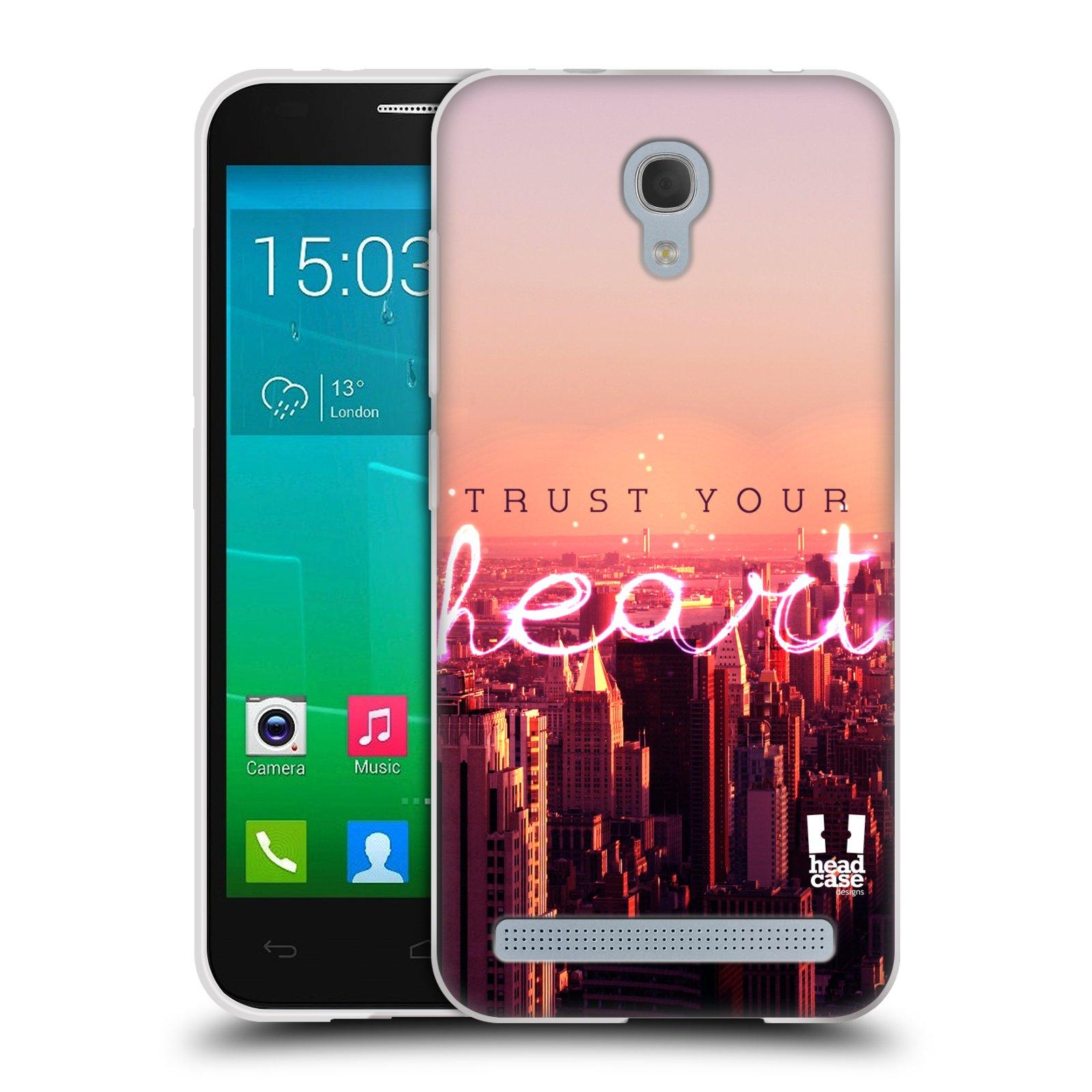 Silikonové pouzdro na mobil Alcatel One Touch Idol 2 Mini S 6036Y HEAD CASE TRUST YOUR HEART (Silikonový kryt či obal na mobilní telefon Alcatel Idol 2 Mini S OT-6036Y)
