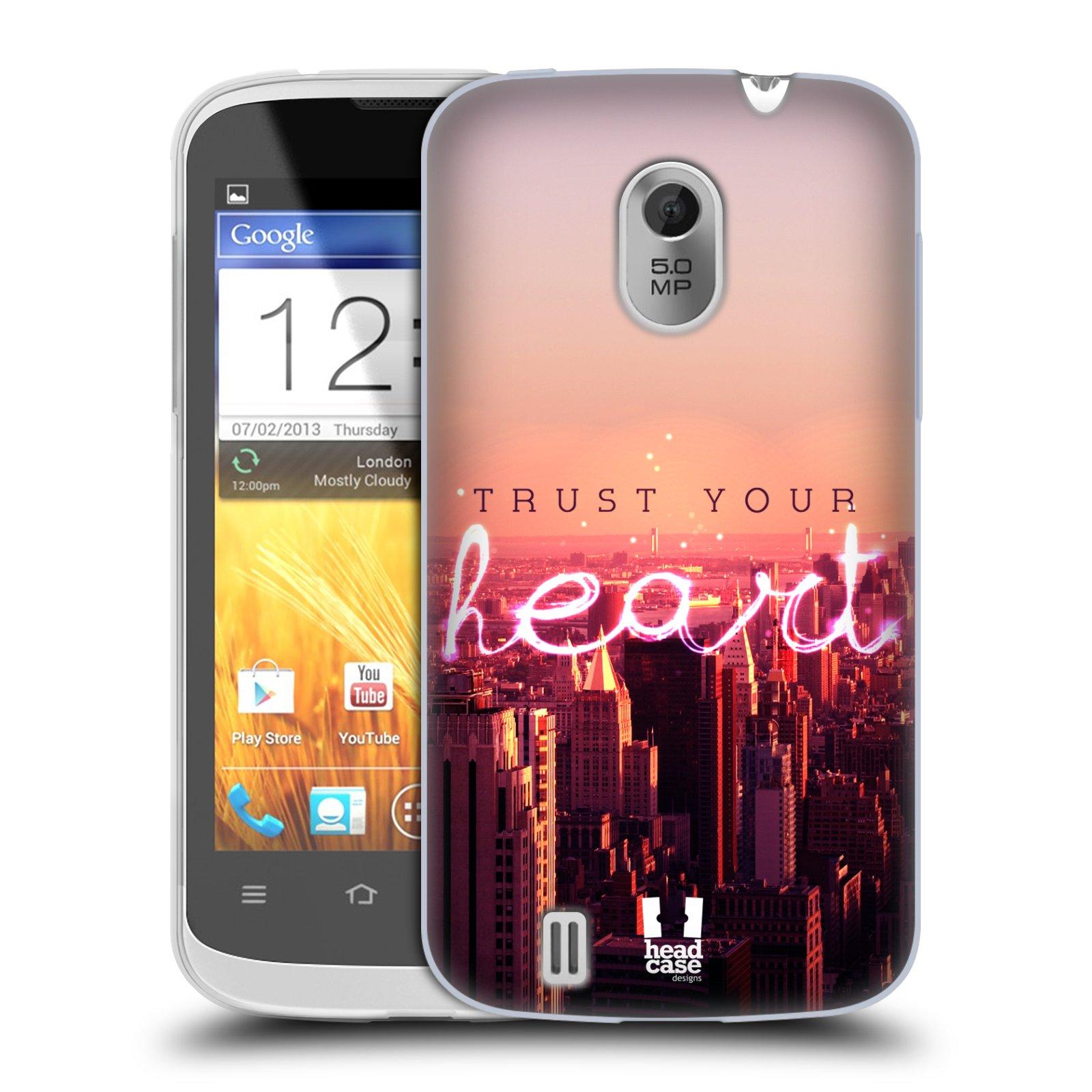 Silikonové pouzdro na mobil ZTE Blade III HEAD CASE TRUST YOUR HEART (Silikonový kryt či obal na mobilní telefon ZTE Blade 3)