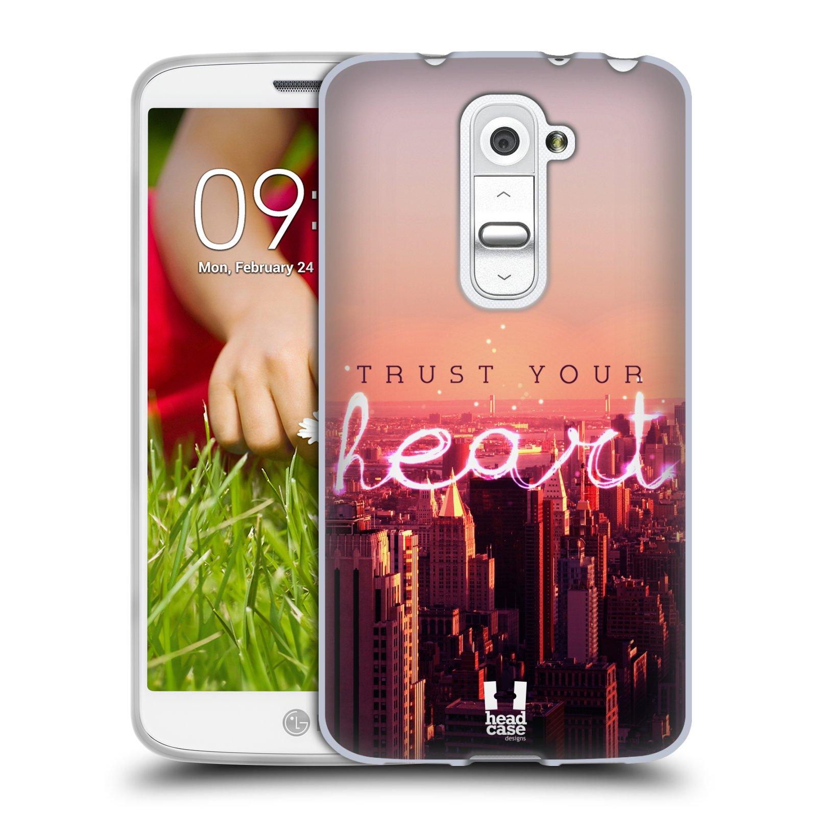 Silikonové pouzdro na mobil LG G2 Mini HEAD CASE TRUST YOUR HEART (Silikonový kryt či obal na mobilní telefon LG G2 Mini D620)
