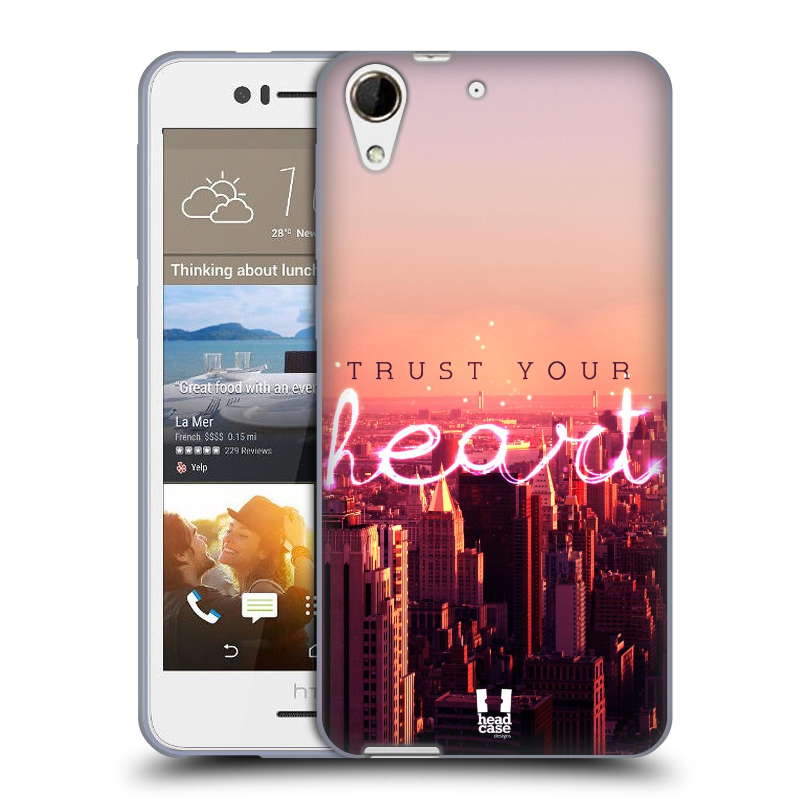 Silikonové pouzdro na mobil HTC Desire 728G Dual SIM HEAD CASE TRUST YOUR HEART (Silikonový kryt či obal na mobilní telefon HTC Desire 728 G Dual SIM)