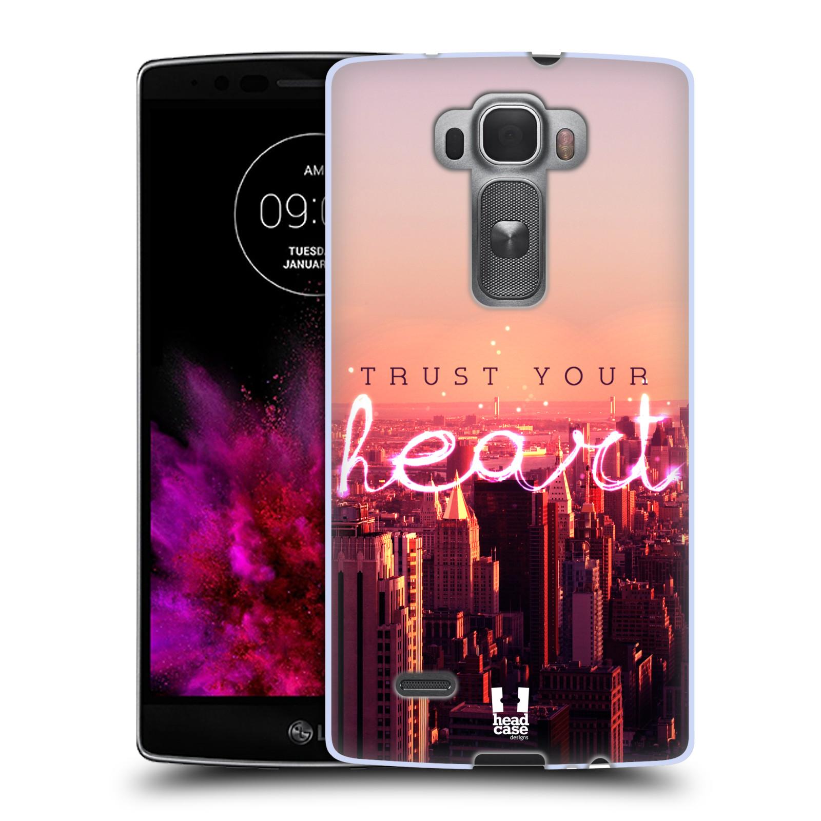 Silikonové pouzdro na mobil LG G Flex 2 HEAD CASE TRUST YOUR HEART (Silikonový kryt či obal na mobilní telefon LG G Flex 2 H955)