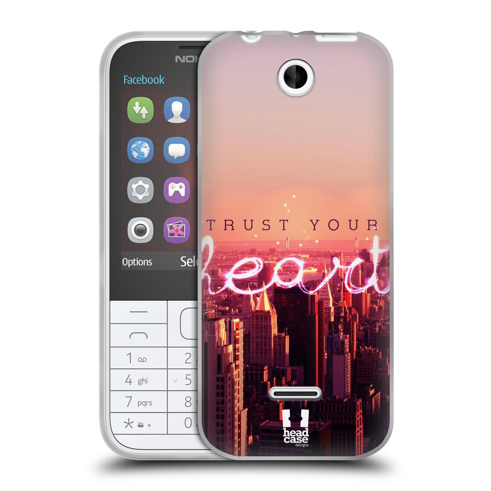 Silikonové pouzdro na mobil Nokia 225 HEAD CASE TRUST YOUR HEART (Silikonový kryt či obal na mobilní telefon Nokia 225)