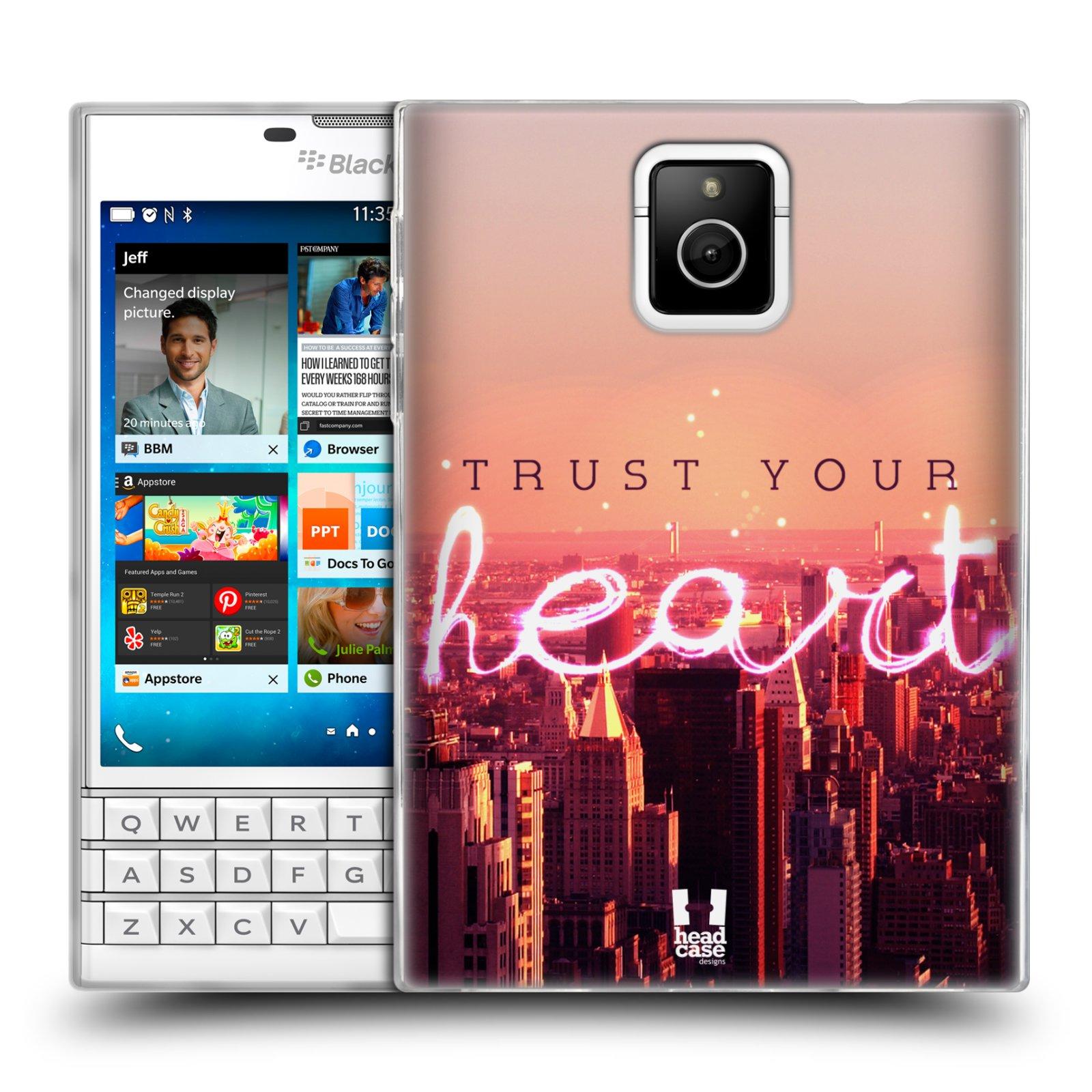 Silikonové pouzdro na mobil Blackberry PASSPORT HEAD CASE TRUST YOUR HEART (Silikonový kryt či obal na mobilní telefon Blackberry PASSPORT)