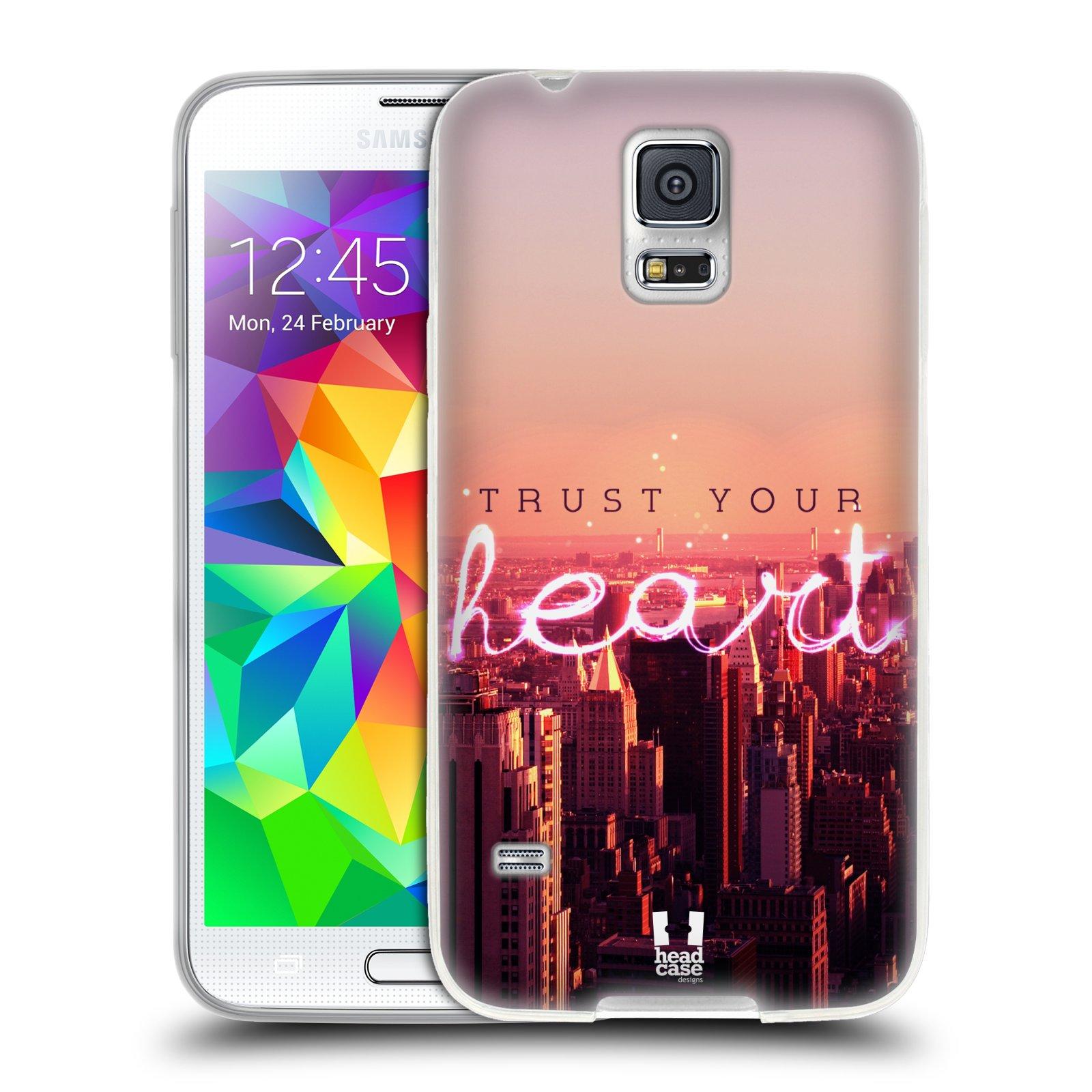 Silikonové pouzdro na mobil Samsung Galaxy S5 HEAD CASE TRUST YOUR HEART (Silikonový kryt či obal na mobilní telefon Samsung Galaxy S5 SM-G900F)