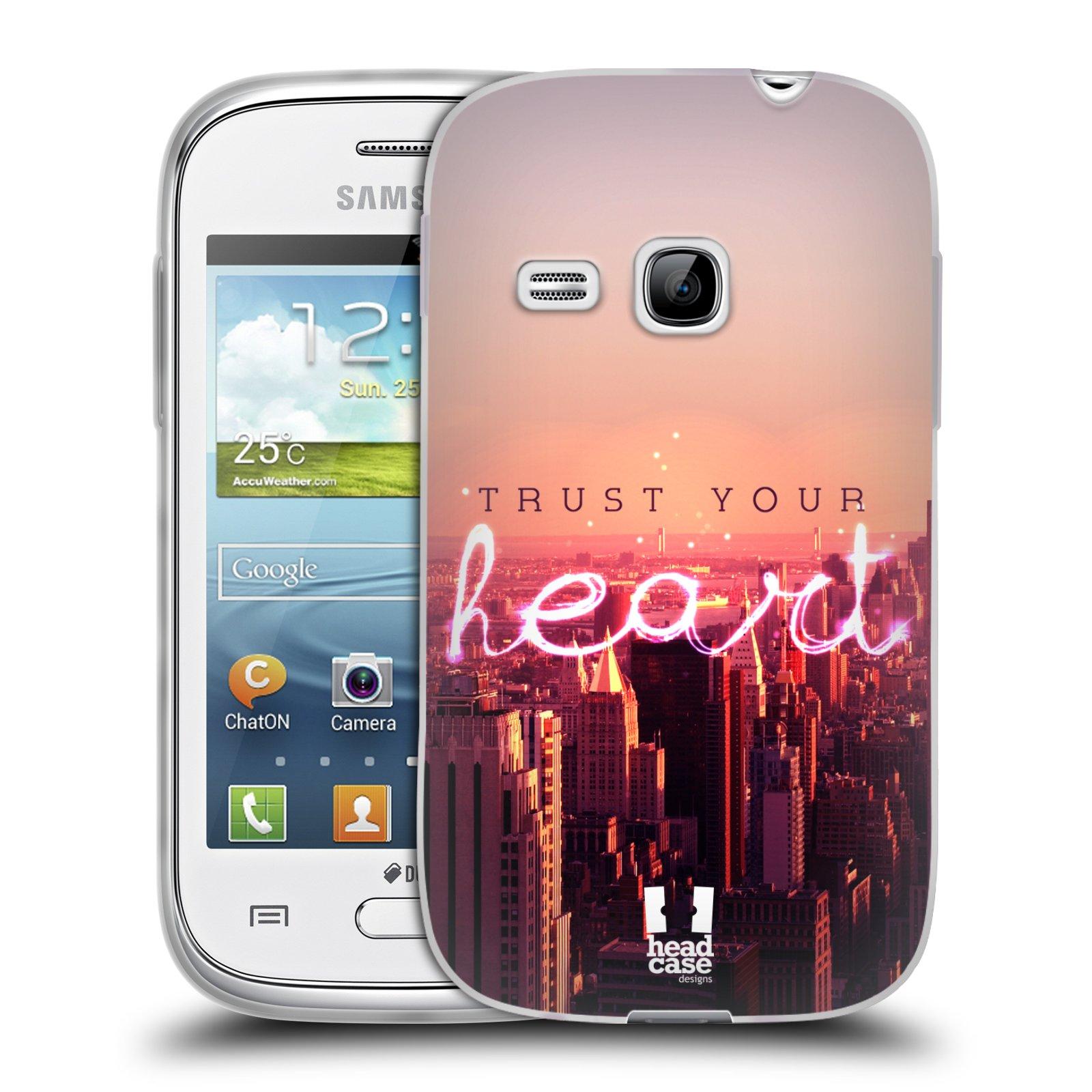 Silikonové pouzdro na mobil Samsung Galaxy Young HEAD CASE TRUST YOUR HEART (Silikonový kryt či obal na mobilní telefon Samsung Galaxy Young GT-S6310)