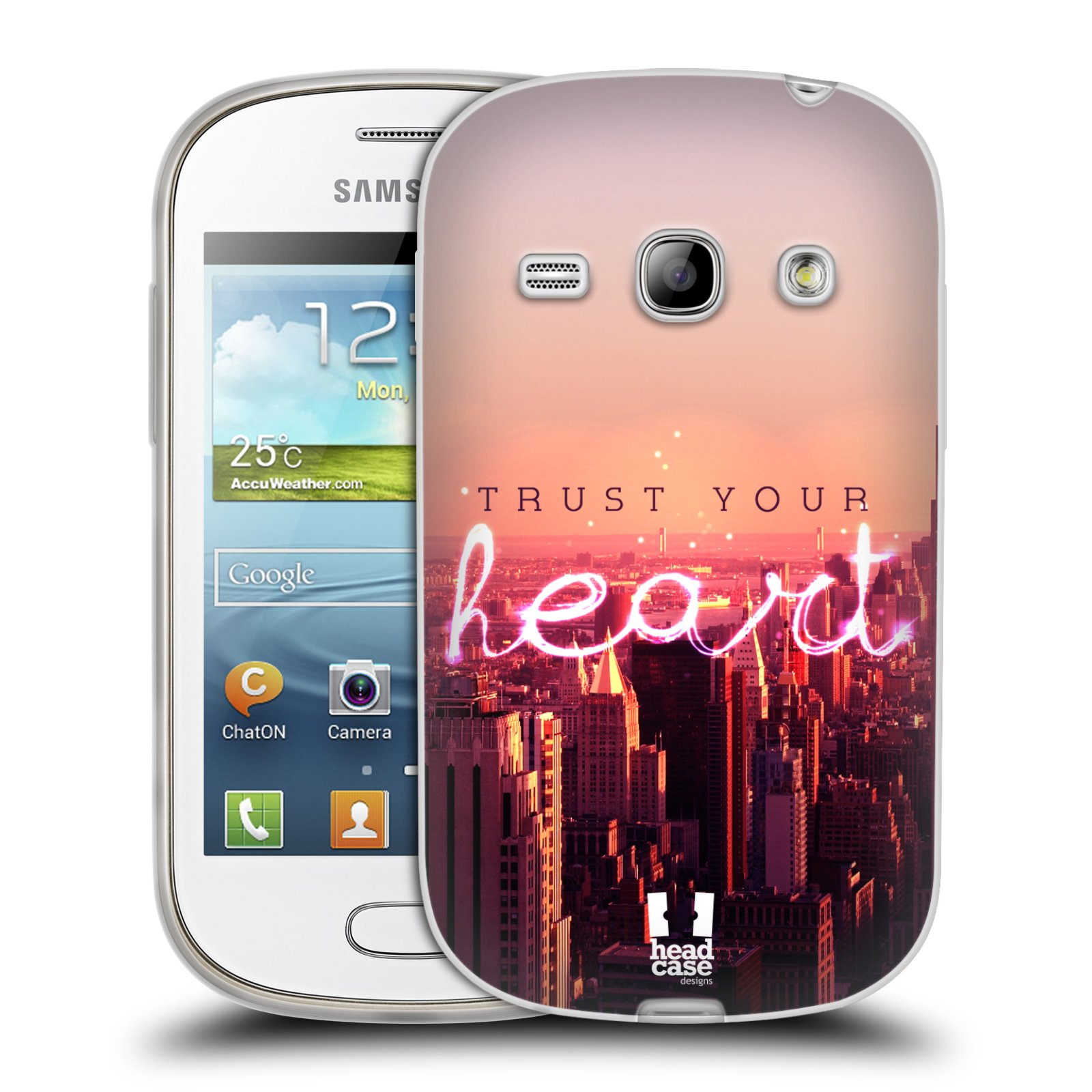 Silikonové pouzdro na mobil Samsung Galaxy Fame HEAD CASE TRUST YOUR HEART (Silikonový kryt či obal na mobilní telefon Samsung Galaxy Fame GT-S6810)