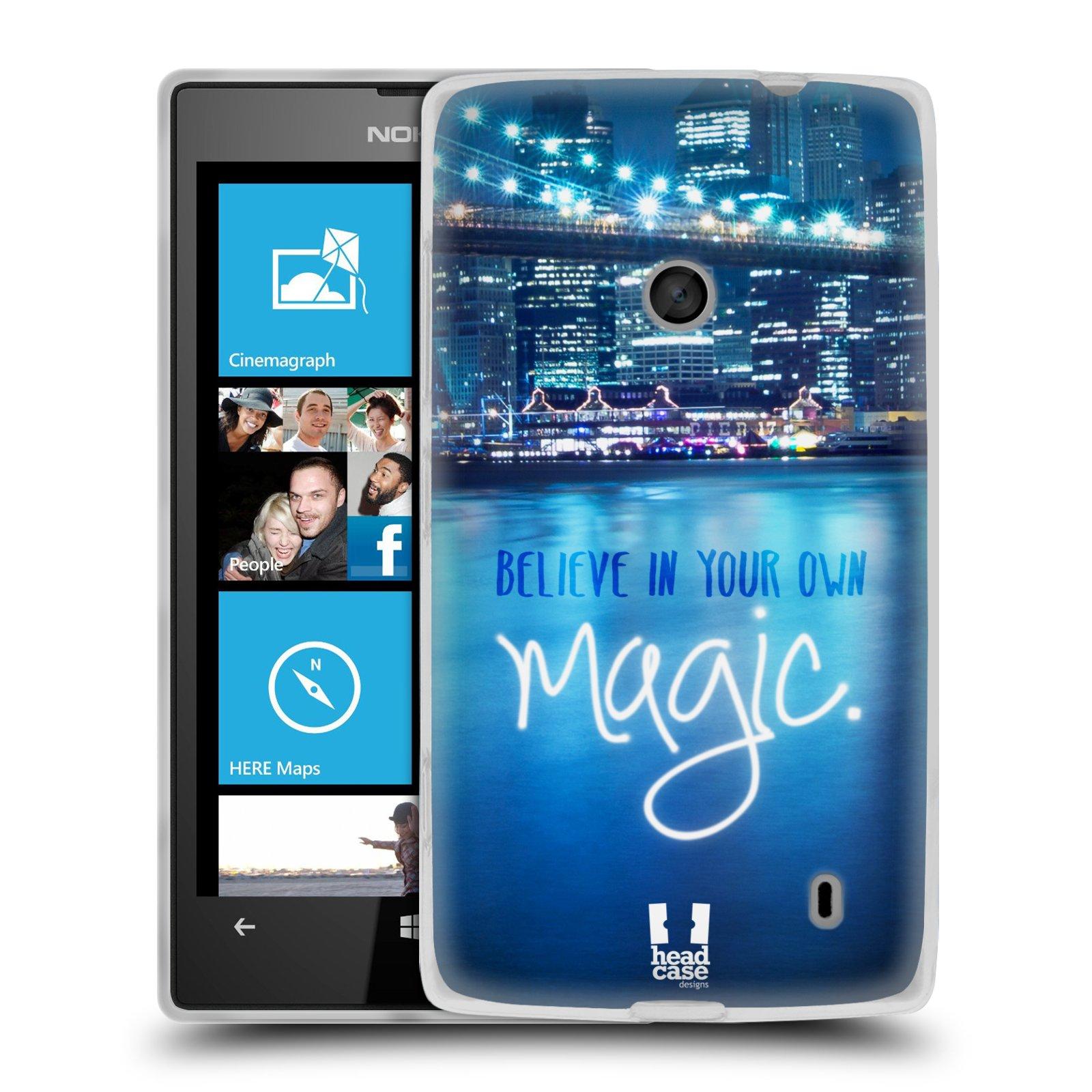 Silikonové pouzdro na mobil Nokia Lumia 520 HEAD CASE MAGICAL (Silikonový Kryt či obal na mobilní telefon Nokia Lumia 520)