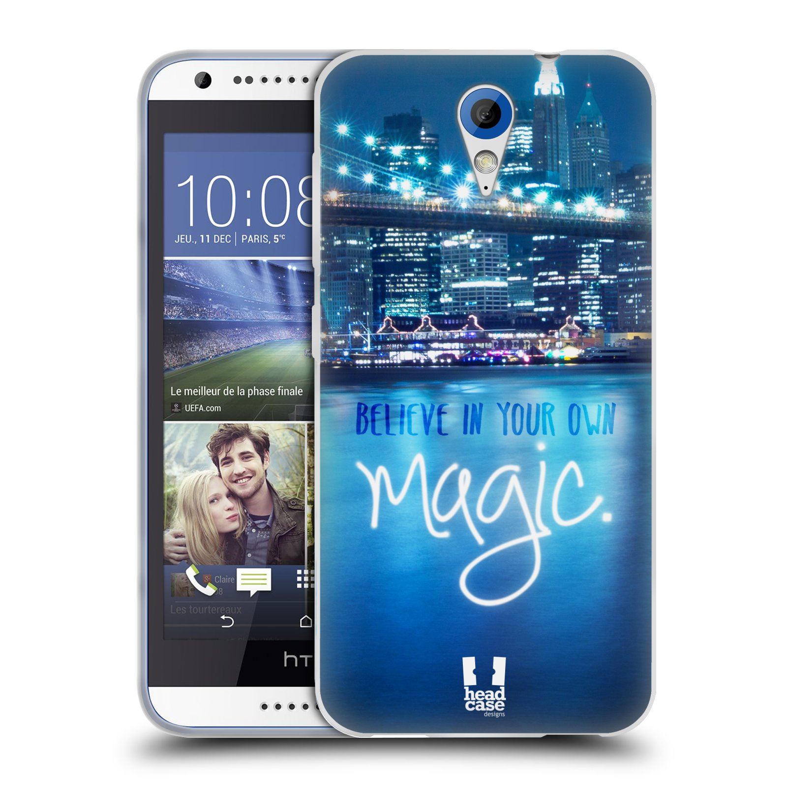 Silikonové pouzdro na mobil HTC Desire 620 HEAD CASE MAGICAL (Silikonový kryt či obal na mobilní telefon HTC Desire 620)