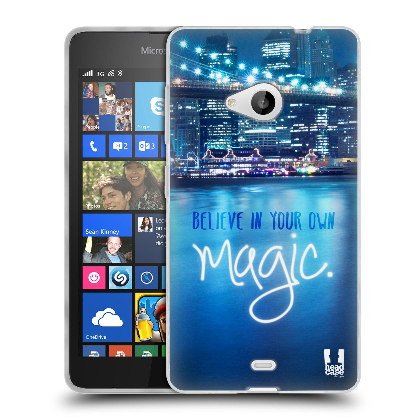 Silikonové pouzdro na mobil Microsoft Lumia 535 HEAD CASE MAGICAL (Silikonový kryt či obal na mobilní telefon Microsoft Lumia 535)