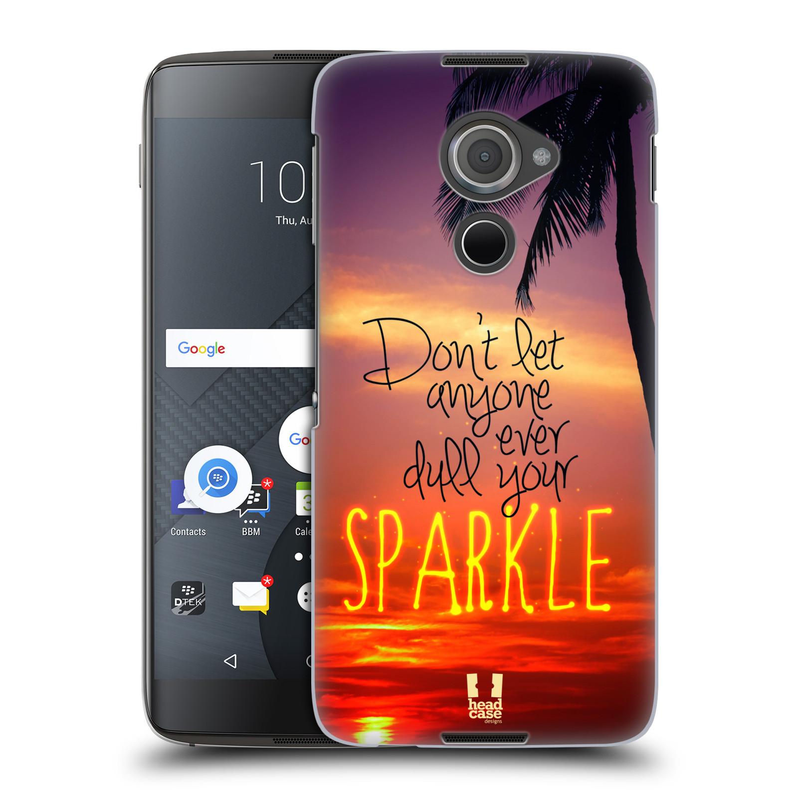 Plastové pouzdro na mobil Blackberry DTEK60 (Argon) - Head Case SPARKLE (Plastový kryt či obal na mobilní telefon Blackberry DTEK60 (Argon))