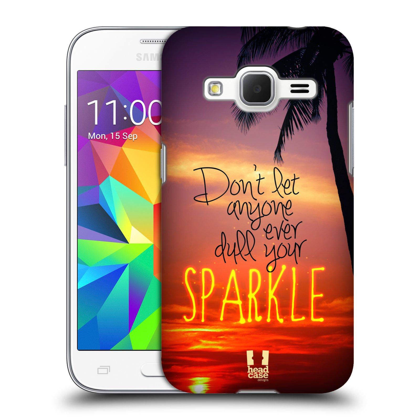 Plastové pouzdro na mobil Samsung Galaxy Core Prime VE HEAD CASE SPARKLE (Kryt či obal na mobilní telefon Samsung Galaxy Core Prime LTE VE SM-G361F)