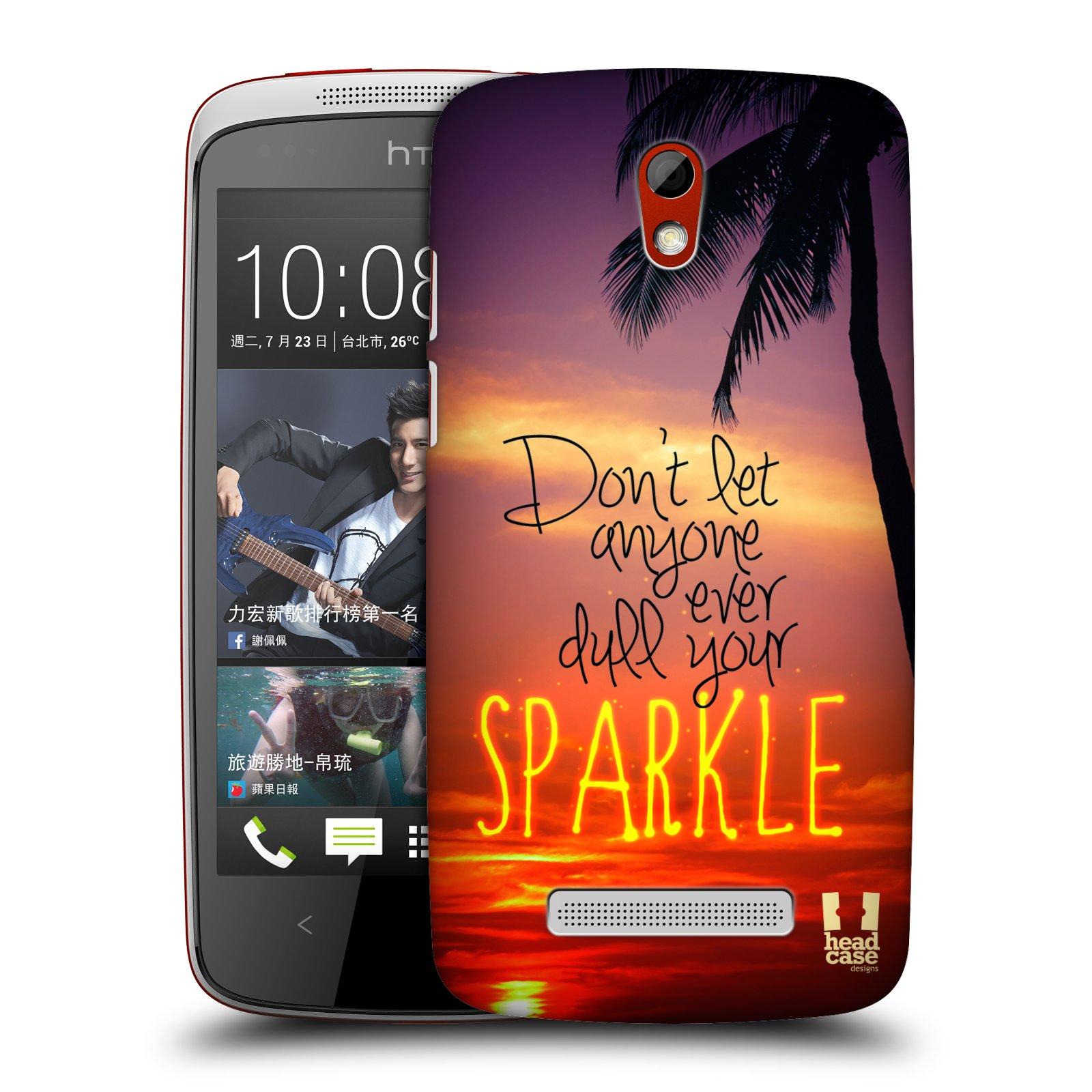 Plastové pouzdro na mobil HTC Desire 500 HEAD CASE SPARKLE (Kryt či obal na mobilní telefon HTC Desire 500)