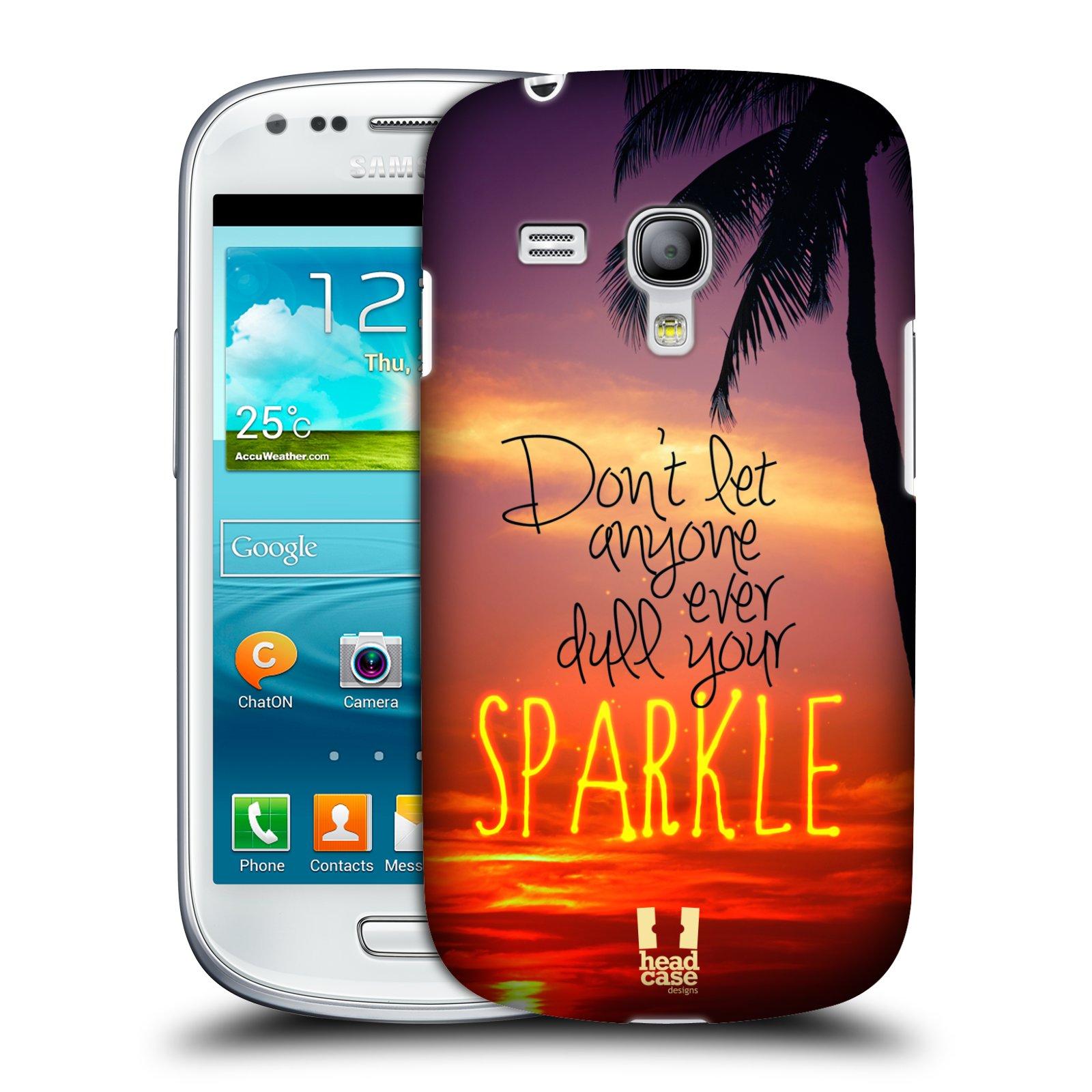 Plastové pouzdro na mobil Samsung Galaxy S III Mini HEAD CASE SPARKLE (Kryt či obal na mobilní telefon Samsung Galaxy S III Mini GT-i8190)