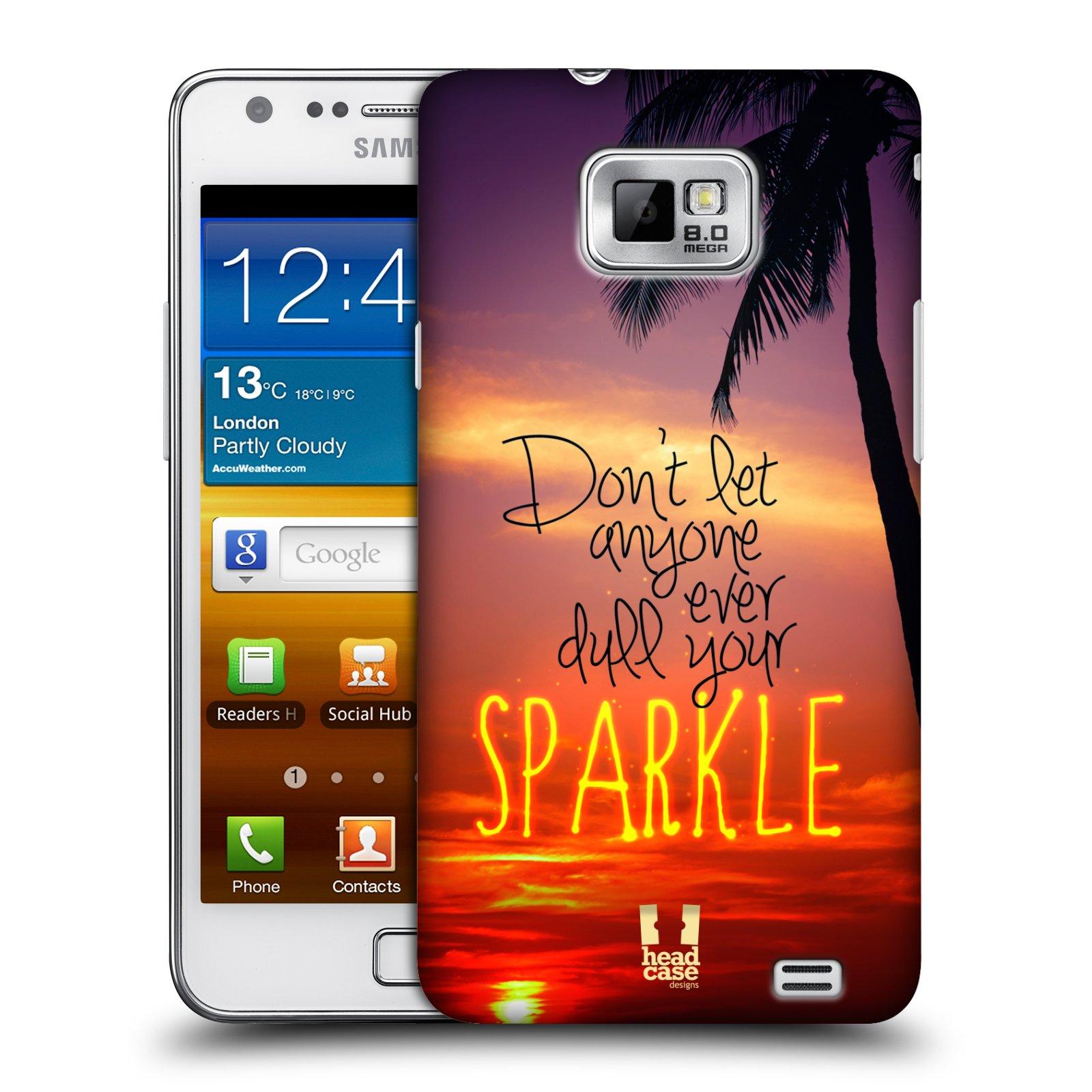 Plastové pouzdro na mobil Samsung Galaxy S II HEAD CASE SPARKLE (Kryt či obal na mobilní telefon Samsung Galaxy S II GT-i9100)