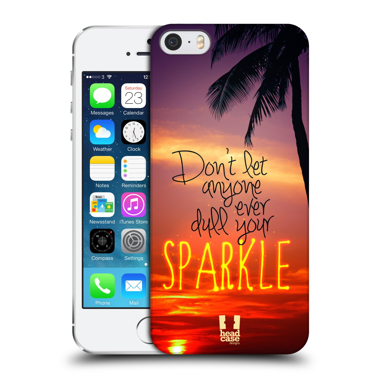 Plastové pouzdro na mobil Apple iPhone SE, 5 a 5S HEAD CASE SPARKLE
