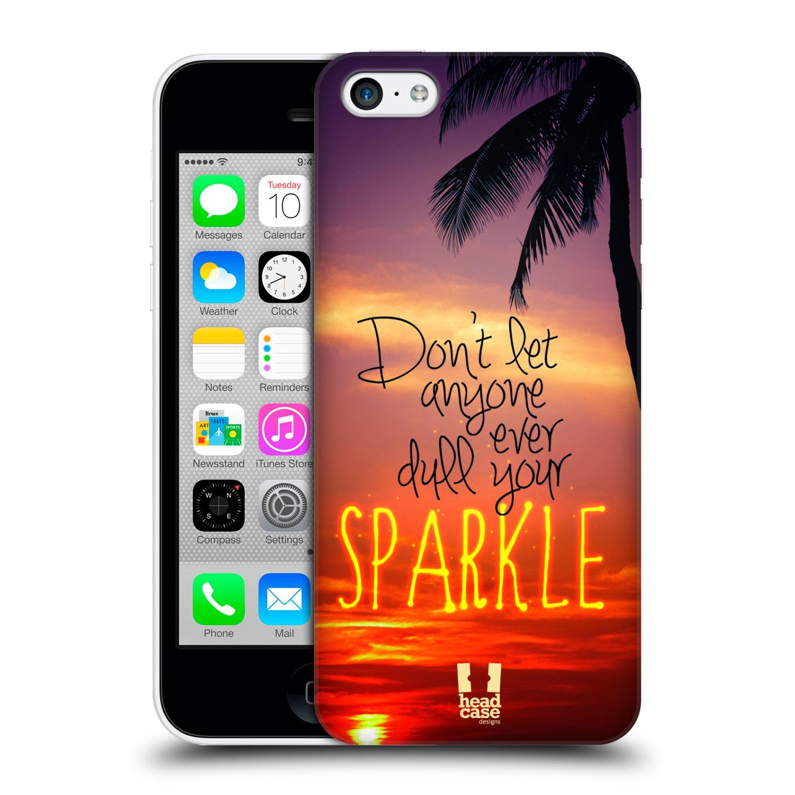 Plastové pouzdro na mobil Apple iPhone 5C HEAD CASE SPARKLE