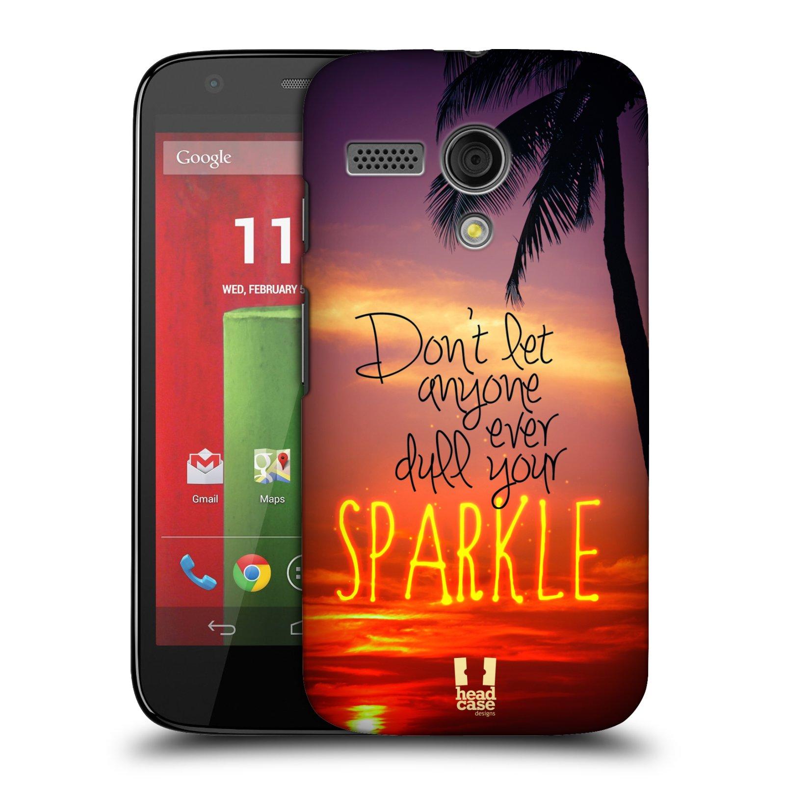 Plastové pouzdro na mobil Motorola Moto G HEAD CASE SPARKLE (Kryt či obal na mobilní telefon Motorola Moto G)