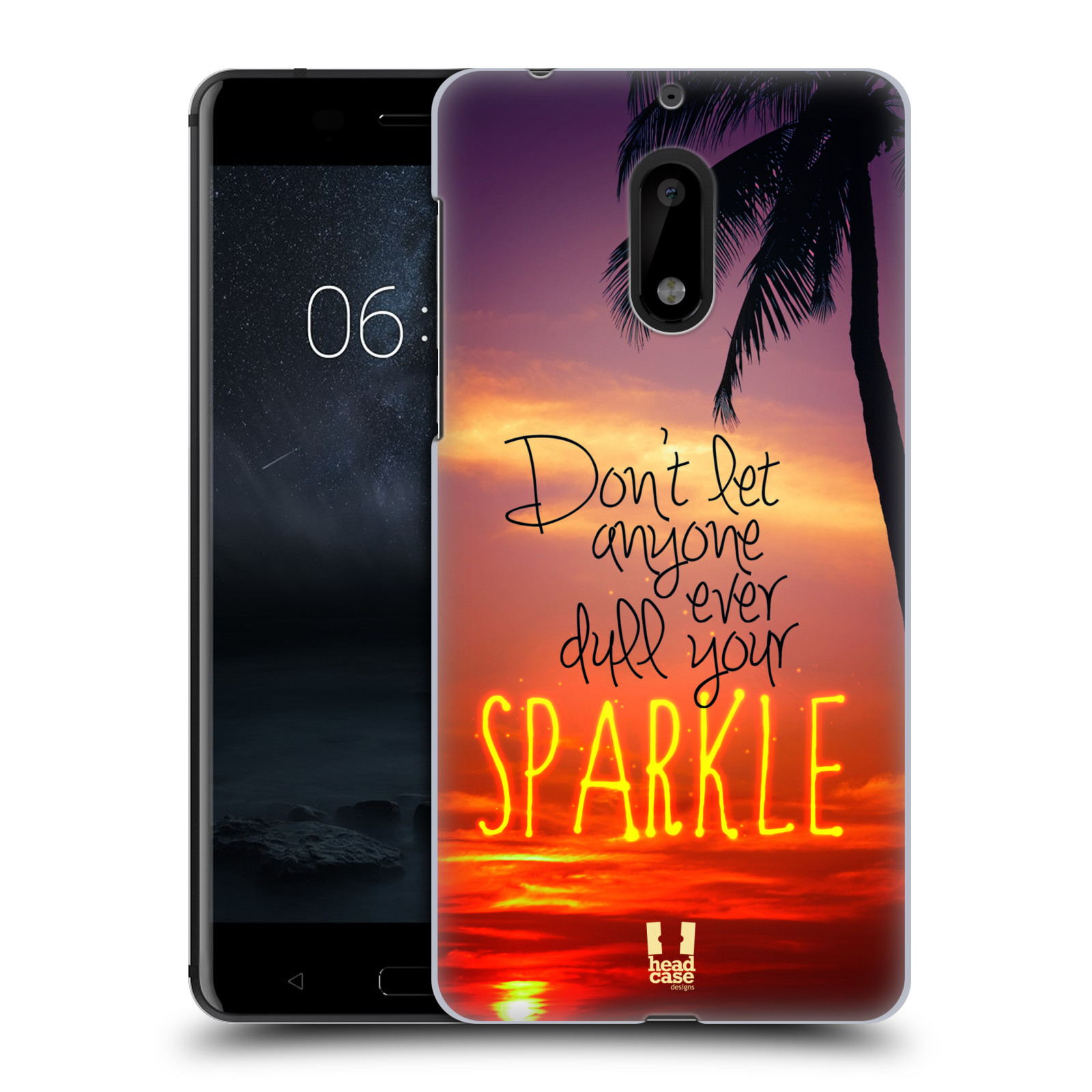 Plastové pouzdro na mobil Nokia 6 - Head Case SPARKLE (Plastový kryt či obal na mobilní telefon Nokia 6 (Dual SIM))