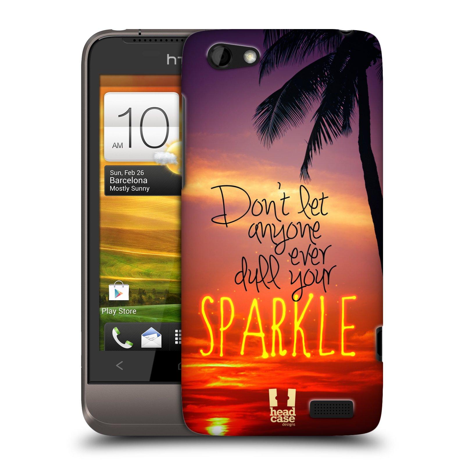 Plastové pouzdro na mobil HTC ONE V HEAD CASE SPARKLE (Kryt či obal na mobilní telefon HTC ONE V)