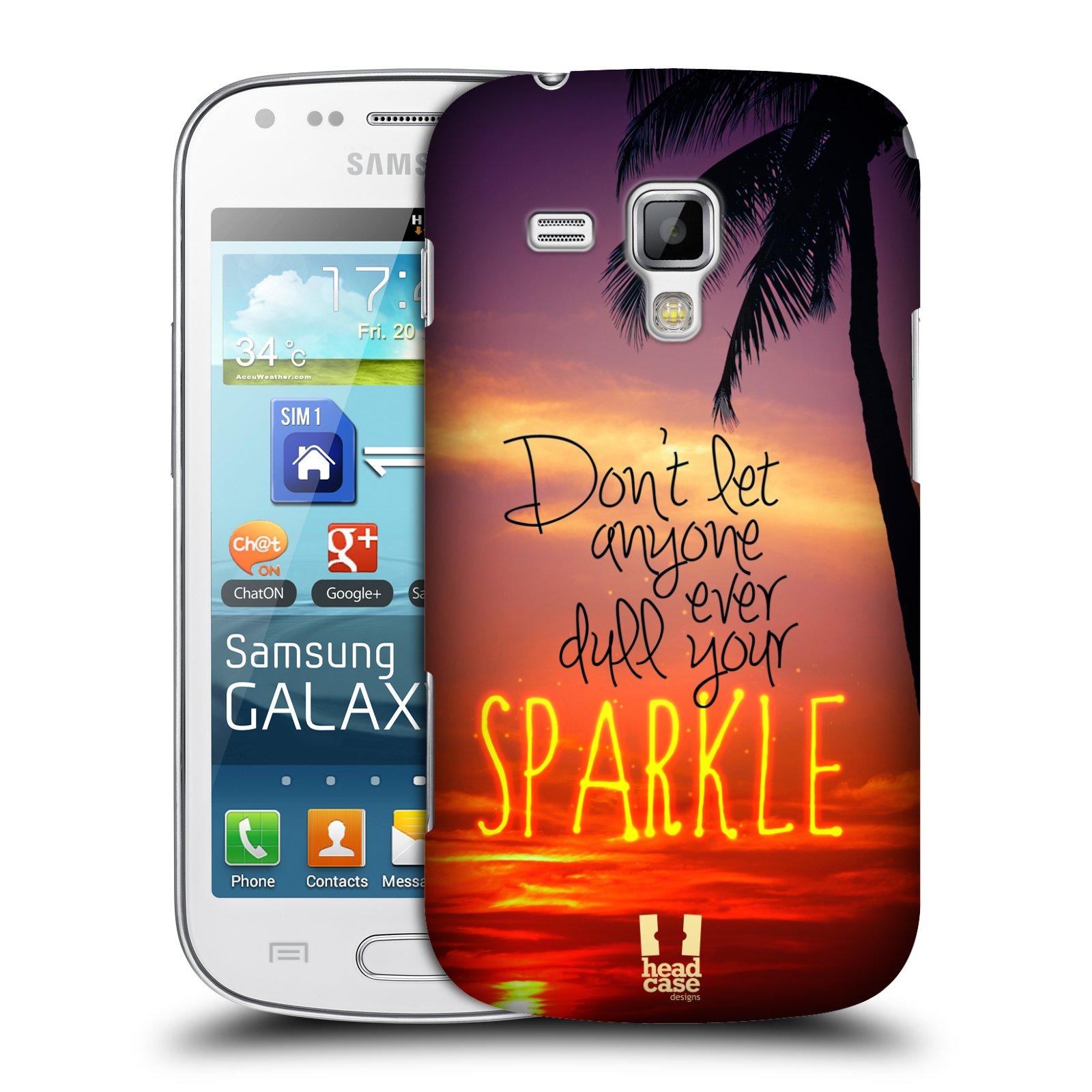 Plastové pouzdro na mobil Samsung Galaxy S Duos HEAD CASE SPARKLE (Kryt či obal na mobilní telefon Samsung Galaxy S Duos GT-S7562)