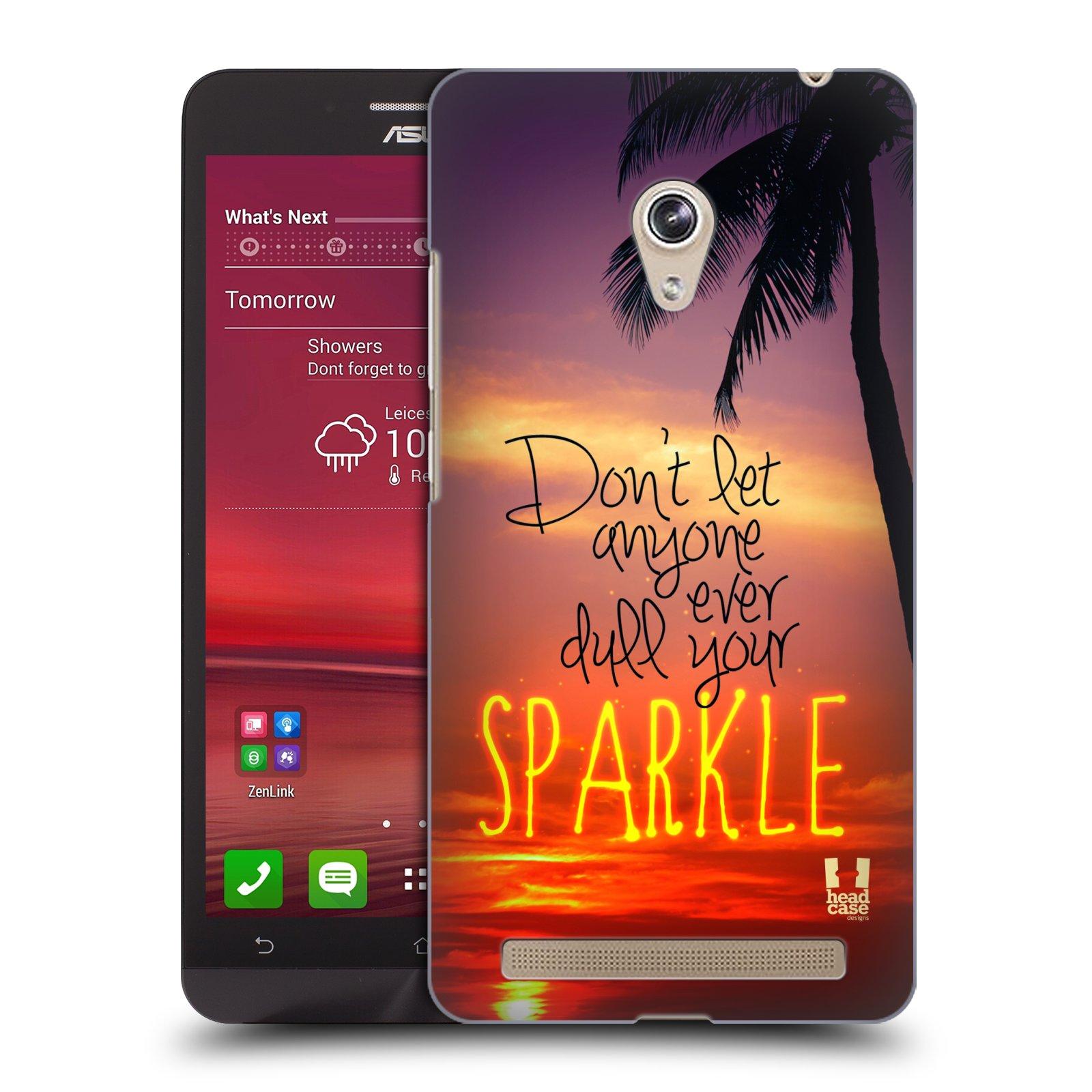 Plastové pouzdro na mobil Asus Zenfone 6 HEAD CASE SPARKLE (Kryt či obal na mobilní telefon Asus Zenfone 6 A600CG / A601CG)