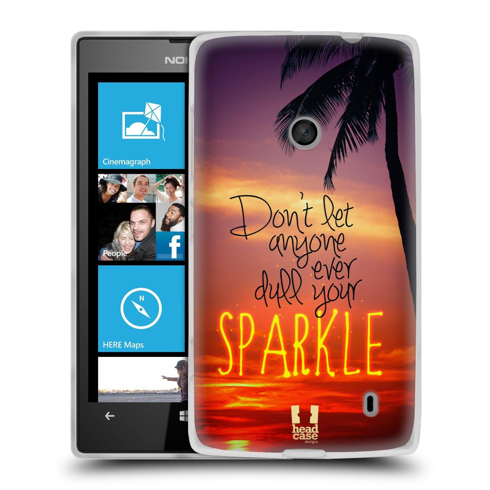 Silikonové pouzdro na mobil Nokia Lumia 520 HEAD CASE SPARKLE (Silikonový Kryt či obal na mobilní telefon Nokia Lumia 520)
