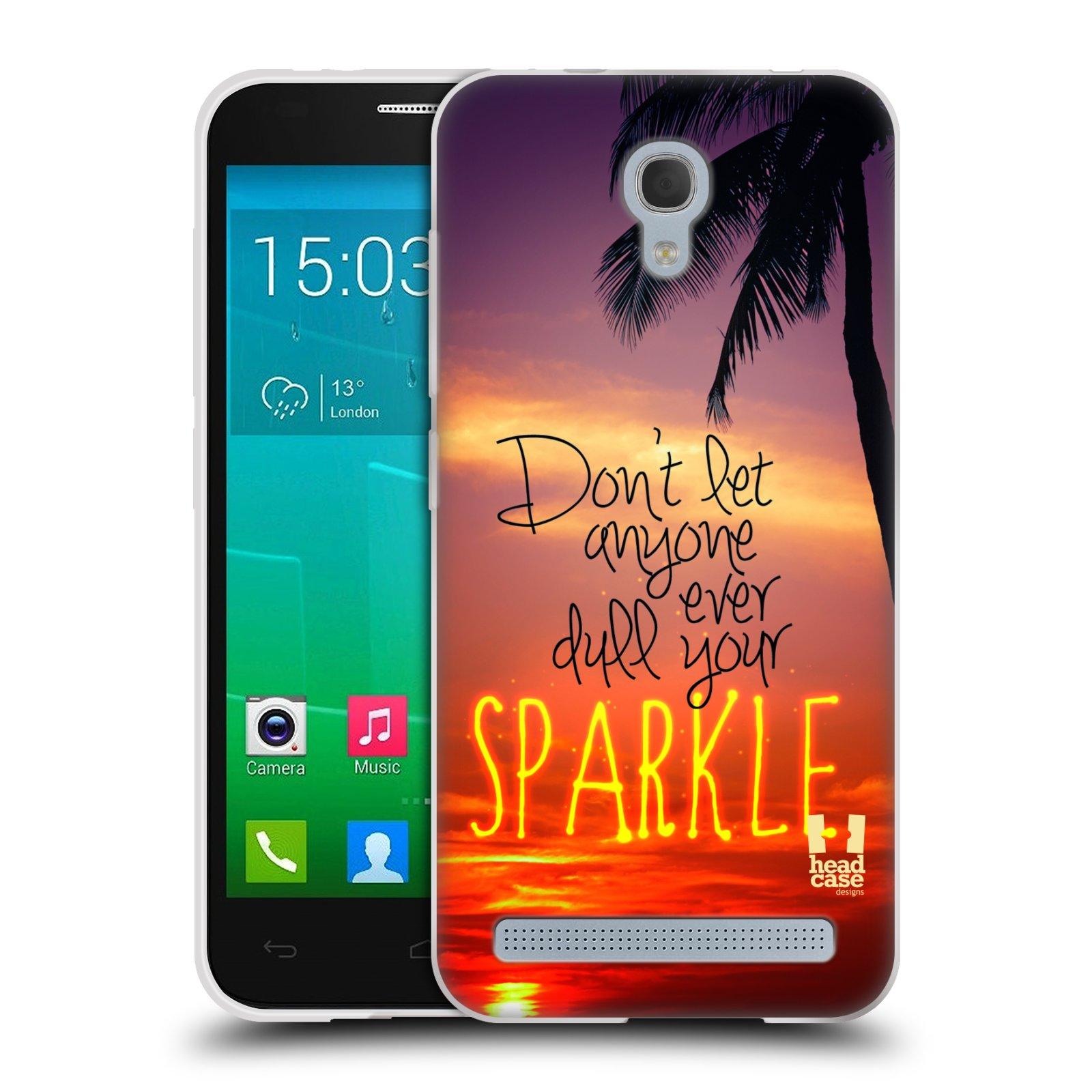 Silikonové pouzdro na mobil Alcatel One Touch Idol 2 Mini S 6036Y HEAD CASE SPARKLE (Silikonový kryt či obal na mobilní telefon Alcatel Idol 2 Mini S OT-6036Y)