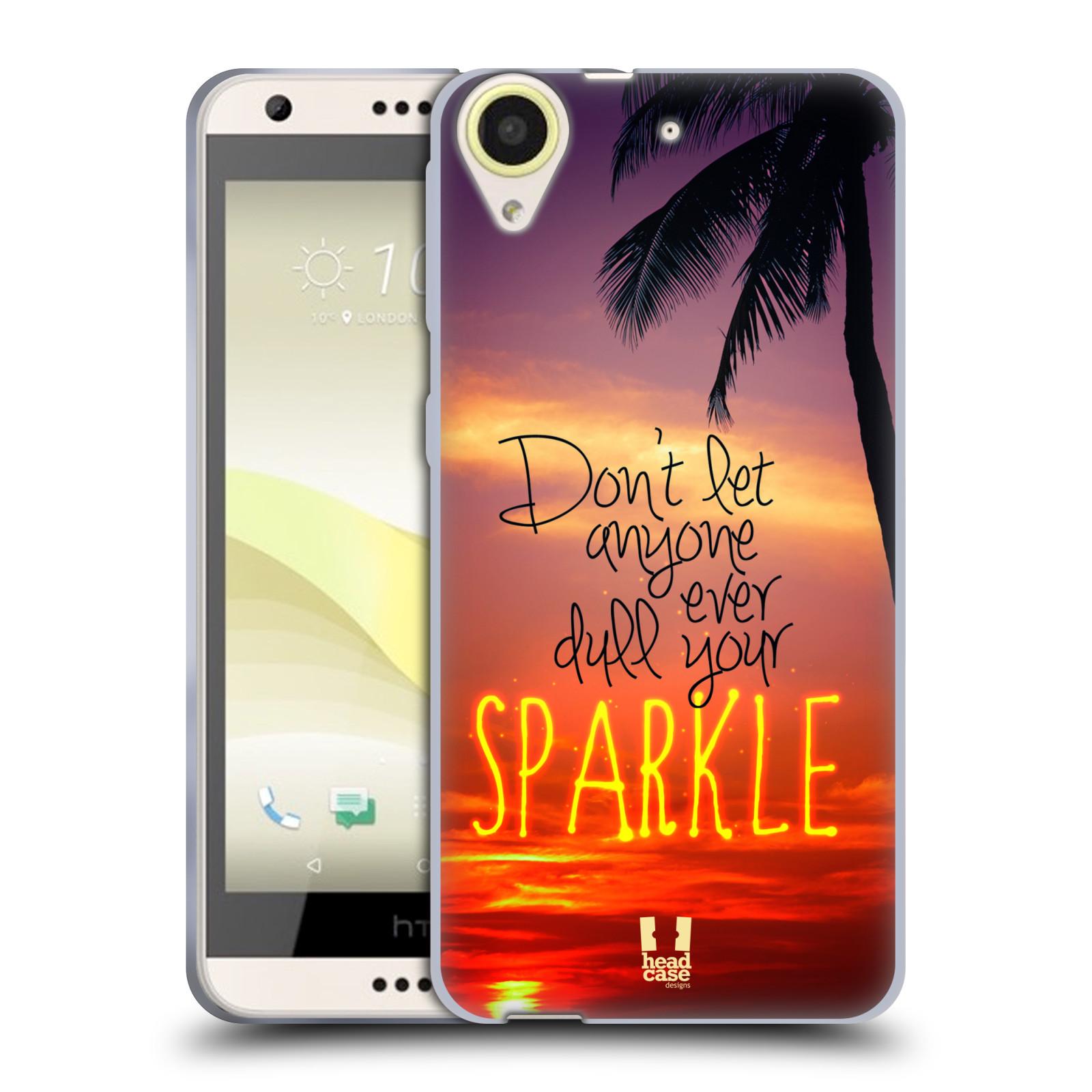 Silikonové pouzdro na mobil HTC Desire 650 HEAD CASE SPARKLE (Silikonový kryt či obal na mobilní telefon HTC Desire 650)