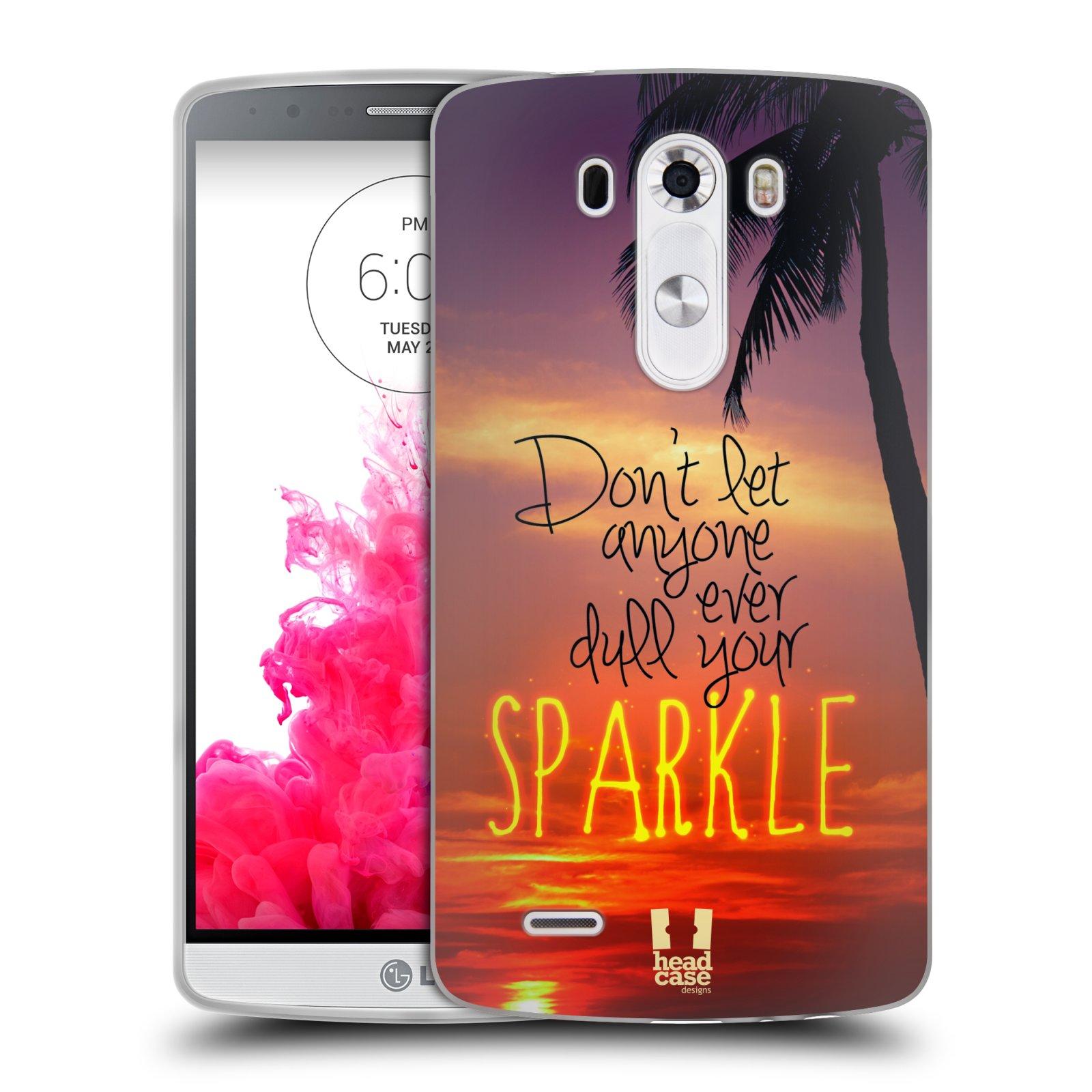 Silikonové pouzdro na mobil LG G3 HEAD CASE SPARKLE (Silikonový kryt či obal na mobilní telefon LG G3 D855)