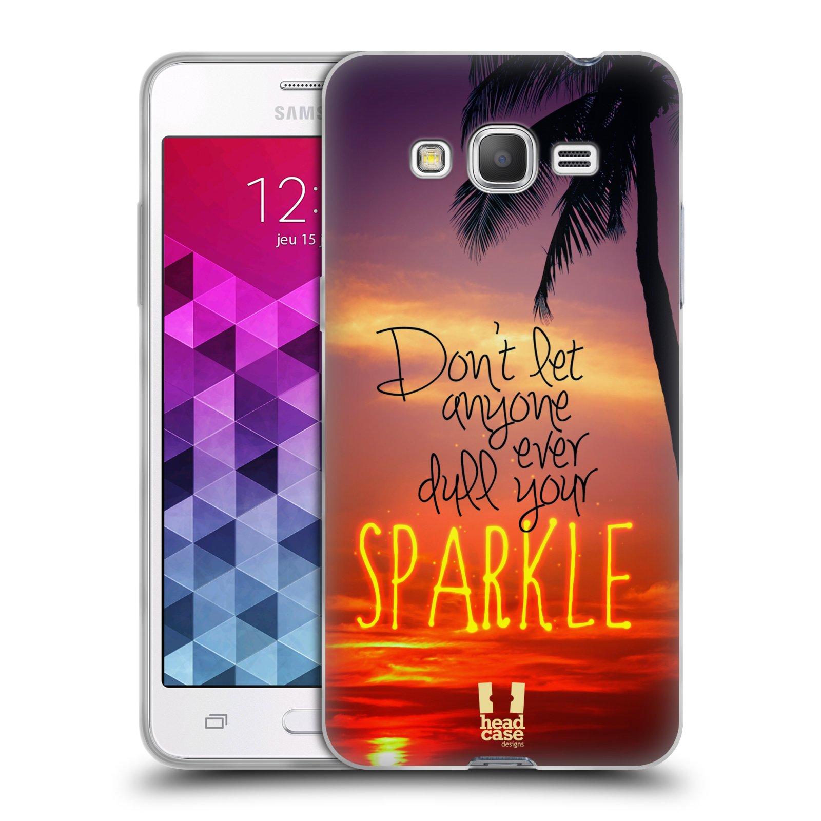 Silikonové pouzdro na mobil Samsung Galaxy Grand Prime VE HEAD CASE SPARKLE