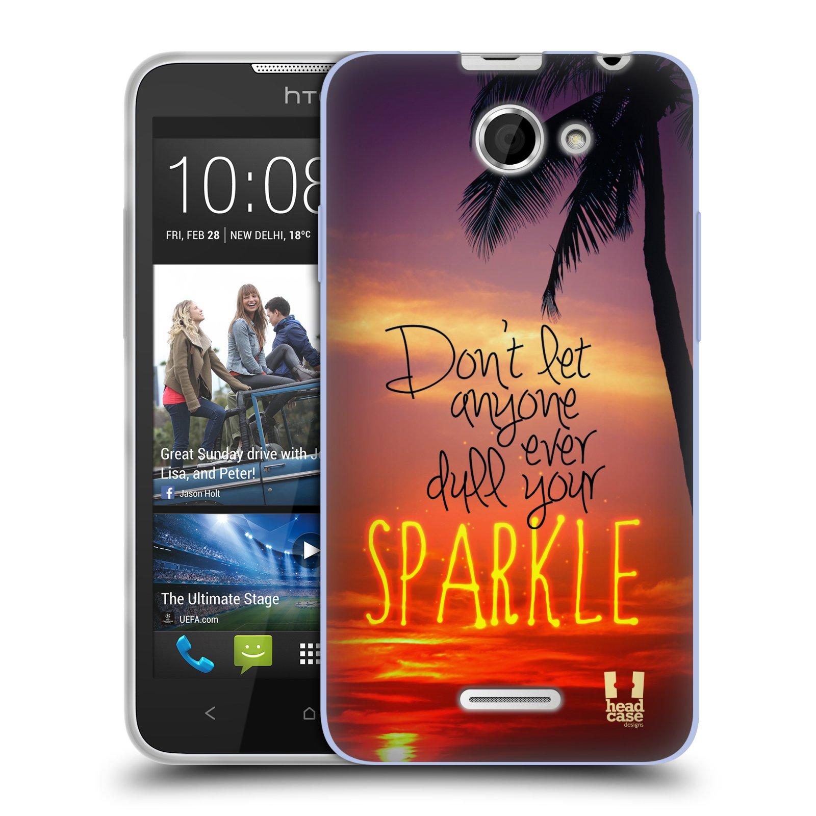 Silikonové pouzdro na mobil HTC Desire 516 HEAD CASE SPARKLE (Silikonový kryt či obal na mobilní telefon HTC Desire 516 Dual SIM)