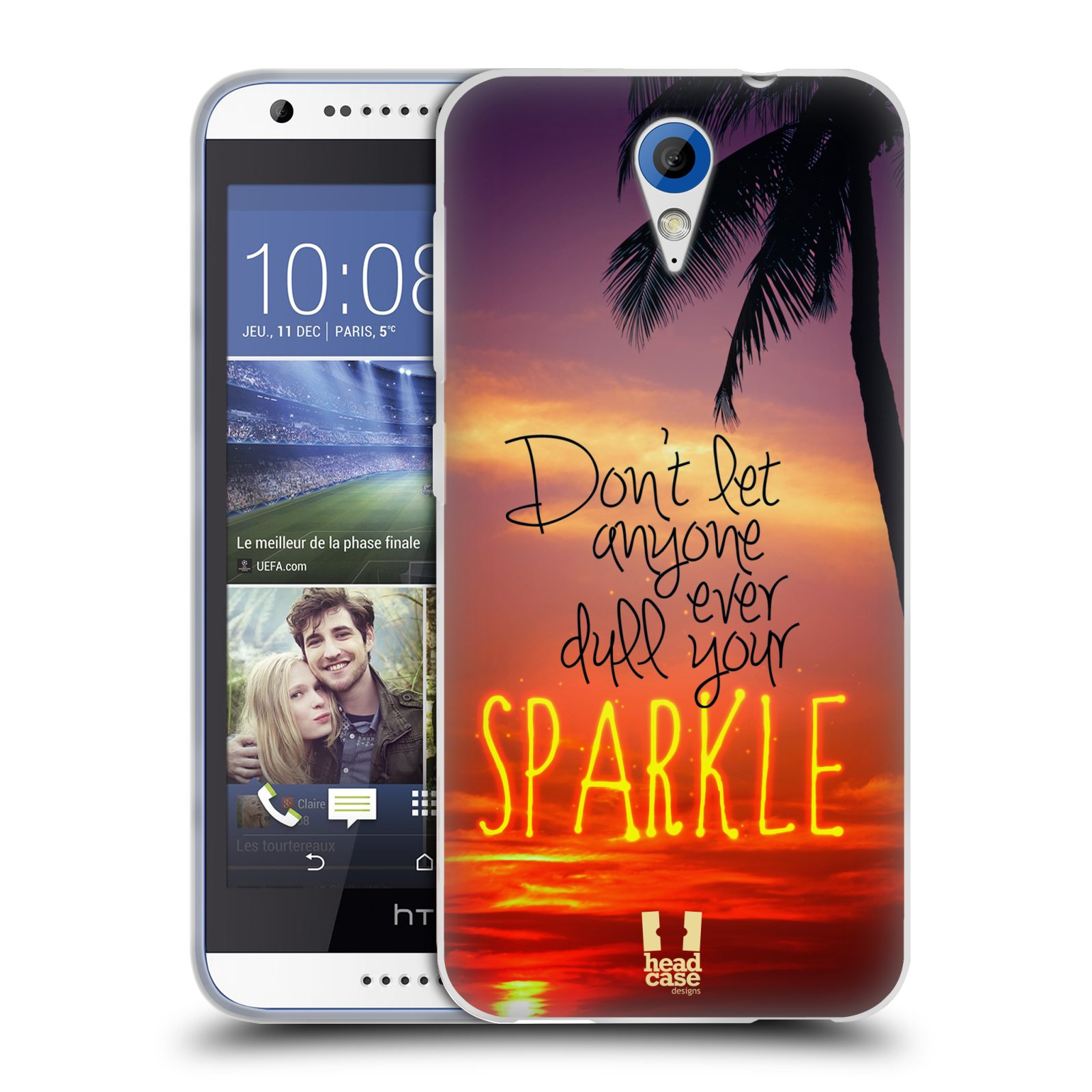 Silikonové pouzdro na mobil HTC Desire 620 HEAD CASE SPARKLE (Silikonový kryt či obal na mobilní telefon HTC Desire 620)