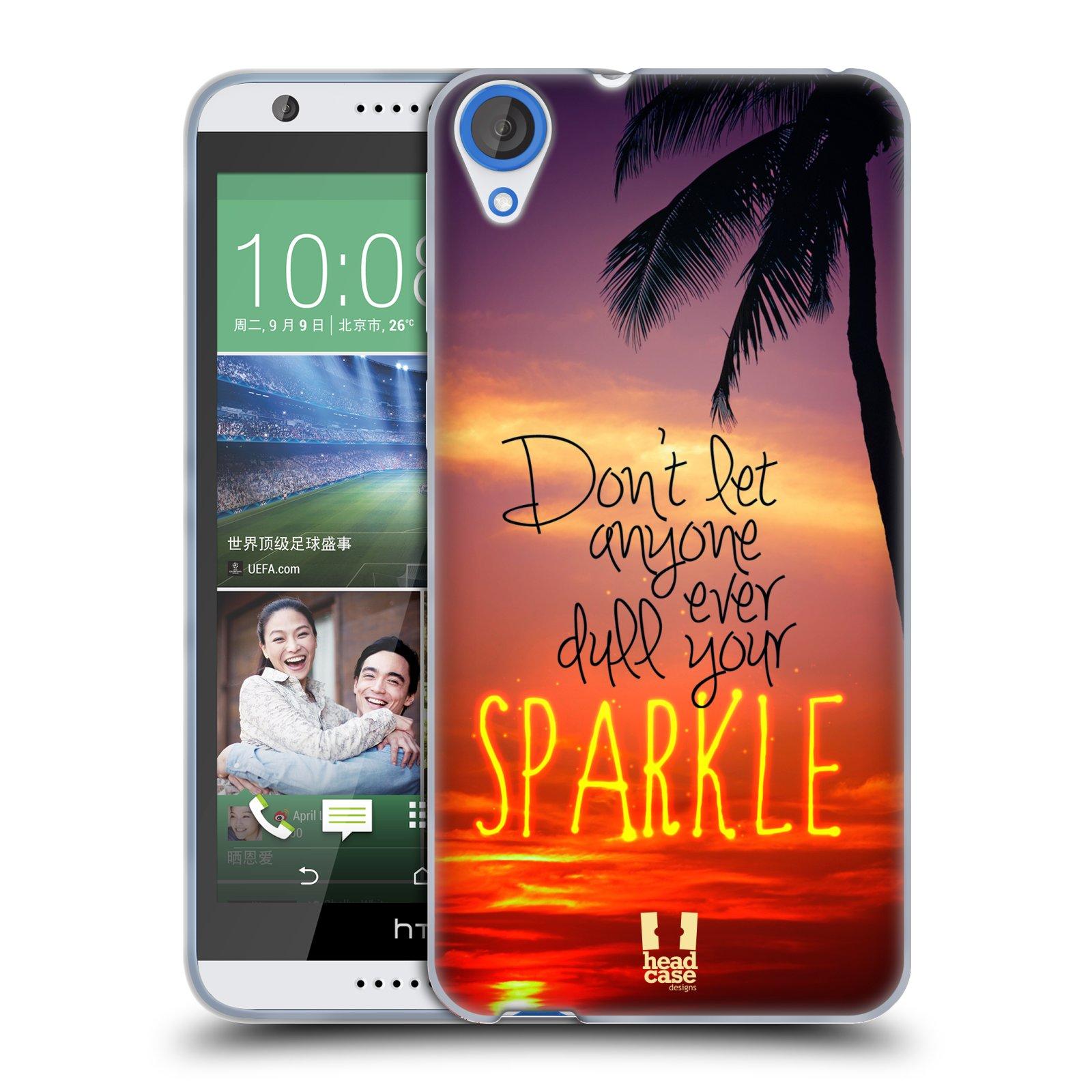 Silikonové pouzdro na mobil HTC Desire 820 HEAD CASE SPARKLE (Silikonový kryt či obal na mobilní telefon HTC Desire 820)