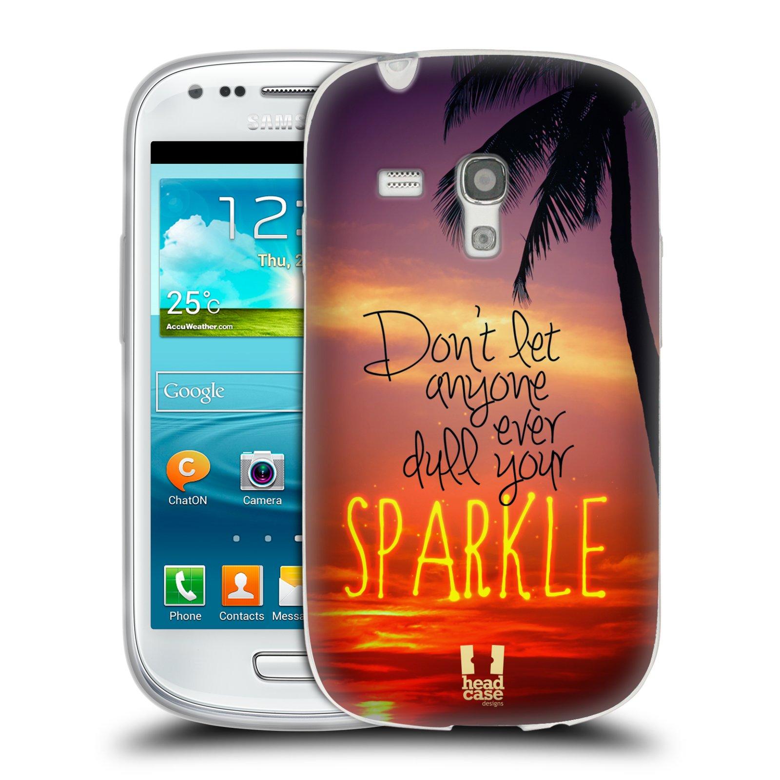 Silikonové pouzdro na mobil Samsung Galaxy S III Mini HEAD CASE SPARKLE (Silikonový kryt či obal na mobilní telefon Samsung Galaxy S III Mini GT-i8190)