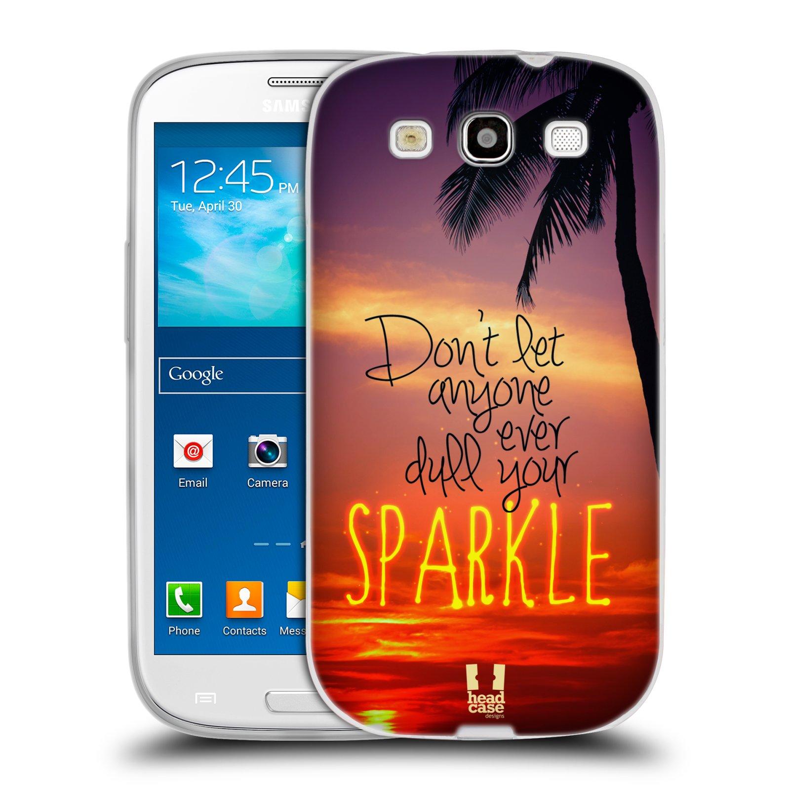 Silikonové pouzdro na mobil Samsung Galaxy S3 Neo HEAD CASE SPARKLE (Silikonový kryt či obal na mobilní telefon Samsung Galaxy S3 Neo GT-i9301i)