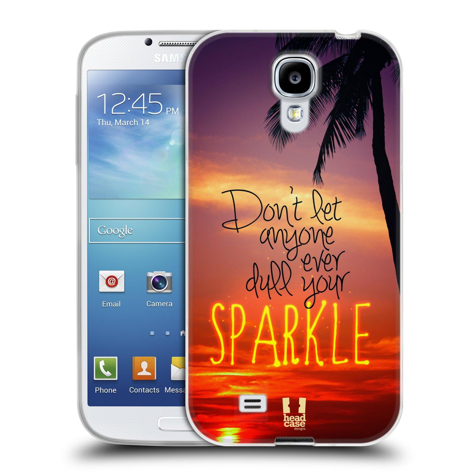 Silikonové pouzdro na mobil Samsung Galaxy S4 HEAD CASE SPARKLE (Silikonový kryt či obal na mobilní telefon Samsung Galaxy S4 GT-i9505 / i9500)