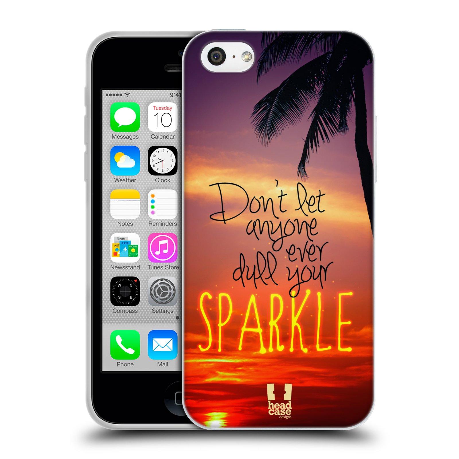 Silikonové pouzdro na mobil Apple iPhone 5C HEAD CASE SPARKLE (Silikonový kryt či obal na mobilní telefon Apple iPhone 5C)