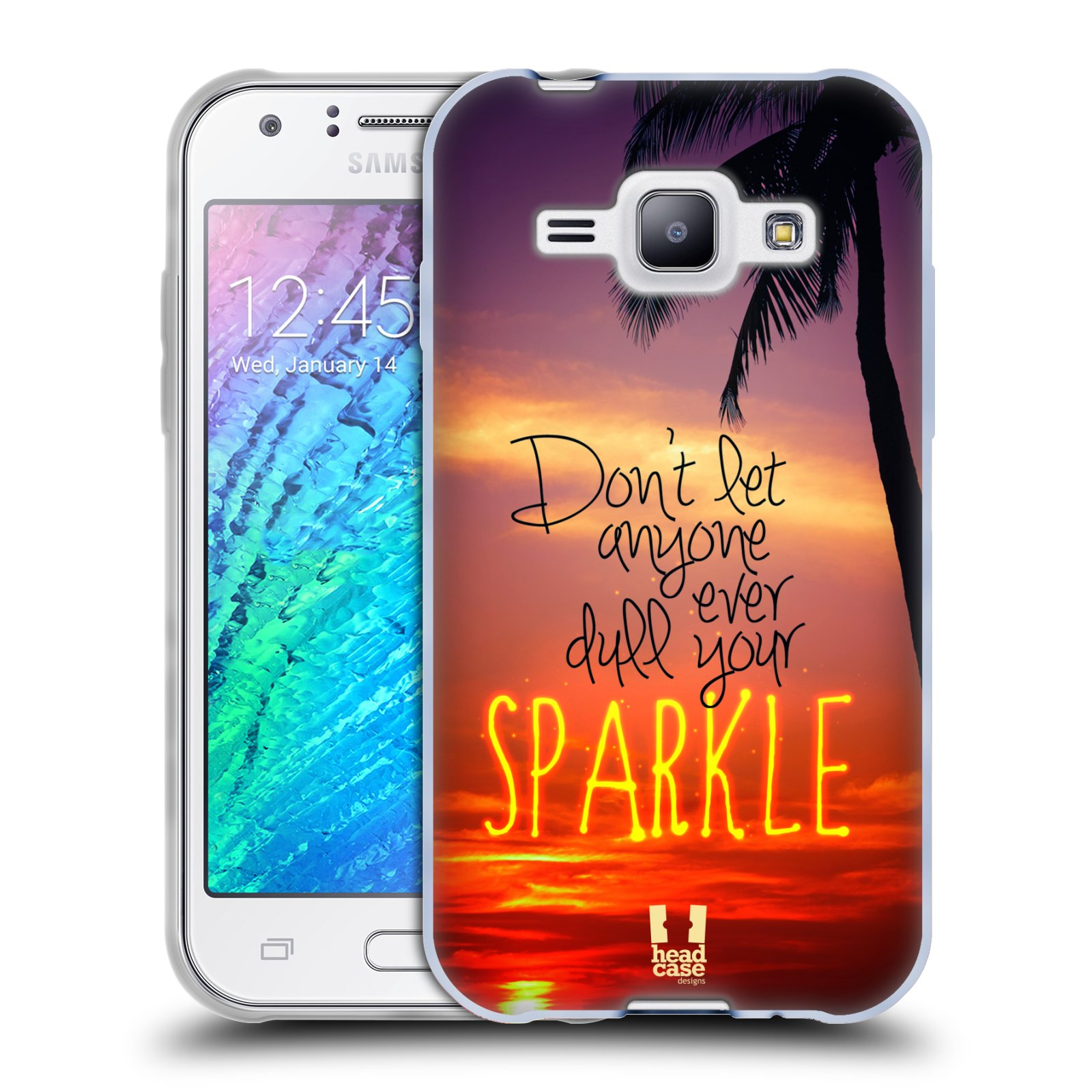 Silikonové pouzdro na mobil Samsung Galaxy J1 HEAD CASE SPARKLE (Silikonový kryt či obal na mobilní telefon Samsung Galaxy J1 a J1 Duos)