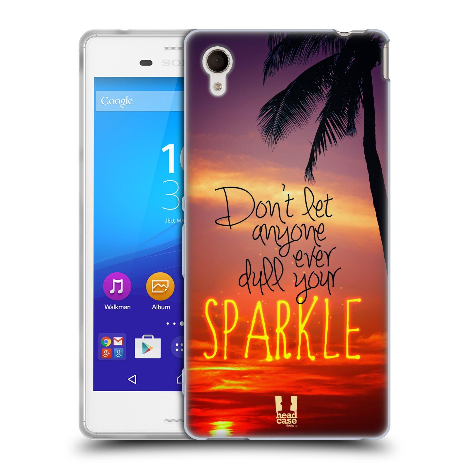Silikonové pouzdro na mobil Sony Xperia M4 Aqua E2303 HEAD CASE SPARKLE (Silikonový kryt či obal na mobilní telefon Sony Xperia M4 Aqua a M4 Aqua Dual SIM)