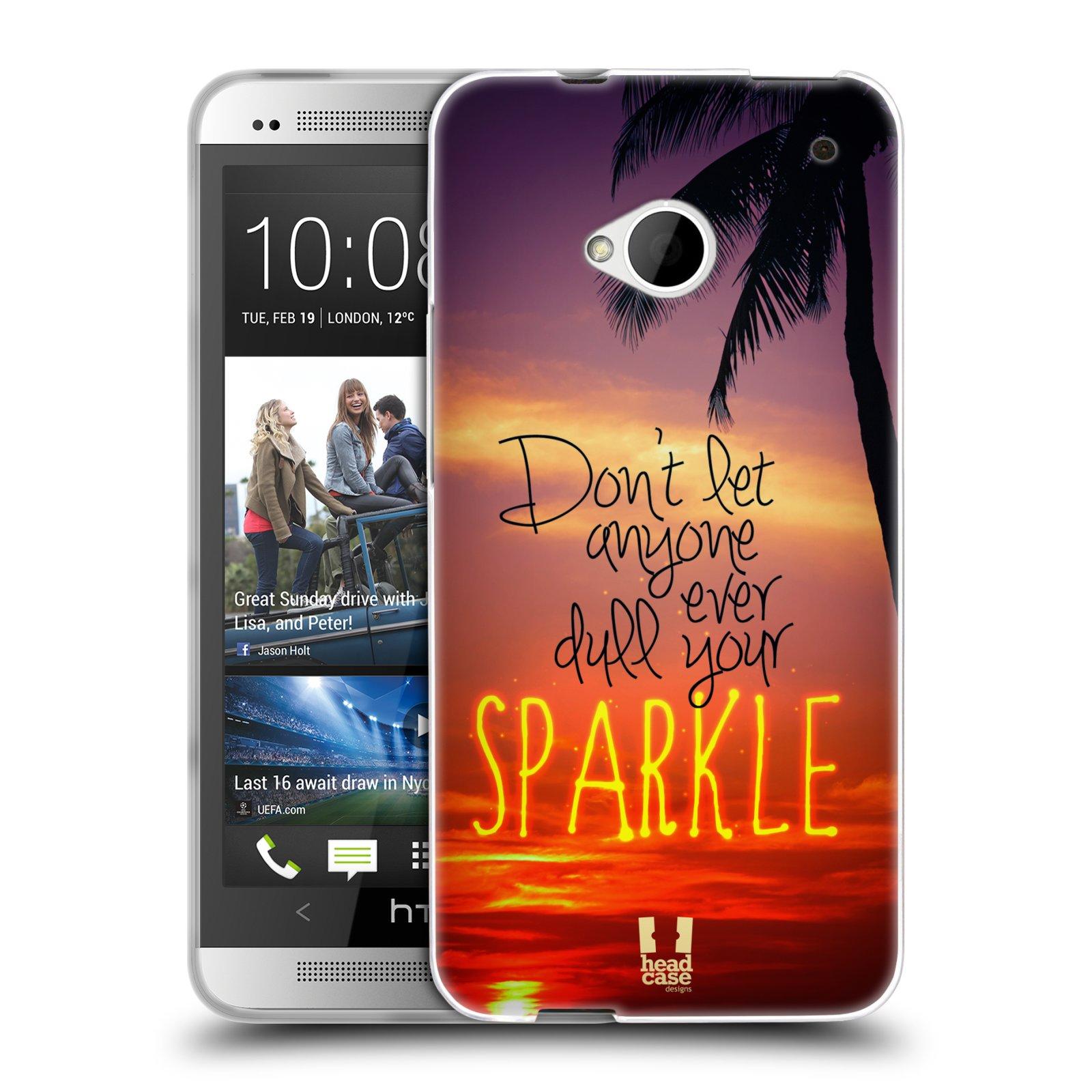 Silikonové pouzdro na mobil HTC ONE M7 HEAD CASE SPARKLE (Silikonový kryt či obal na mobilní telefon HTC ONE M7)