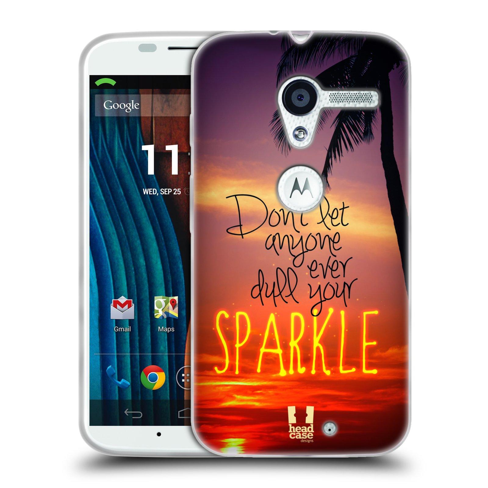 Silikonové pouzdro na mobil Motorola Moto X HEAD CASE SPARKLE (Silikonový kryt či obal na mobilní telefon Motorola Moto X)