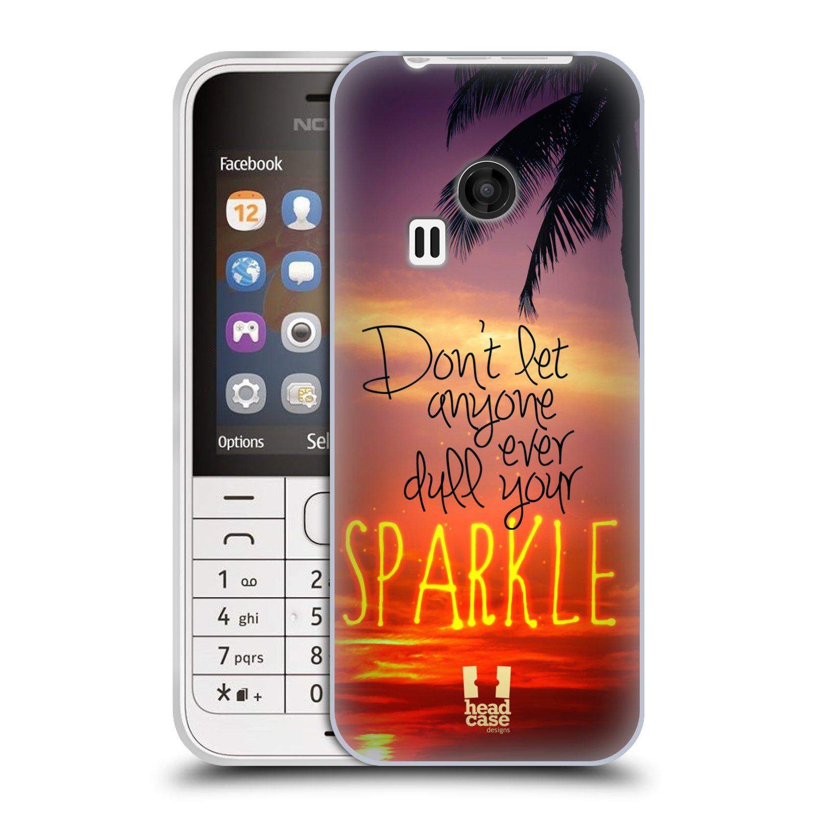 Silikonové pouzdro na mobil Nokia 220 HEAD CASE SPARKLE (Silikonový kryt či obal na mobilní telefon Nokia 220 a 220 Dual SIM)