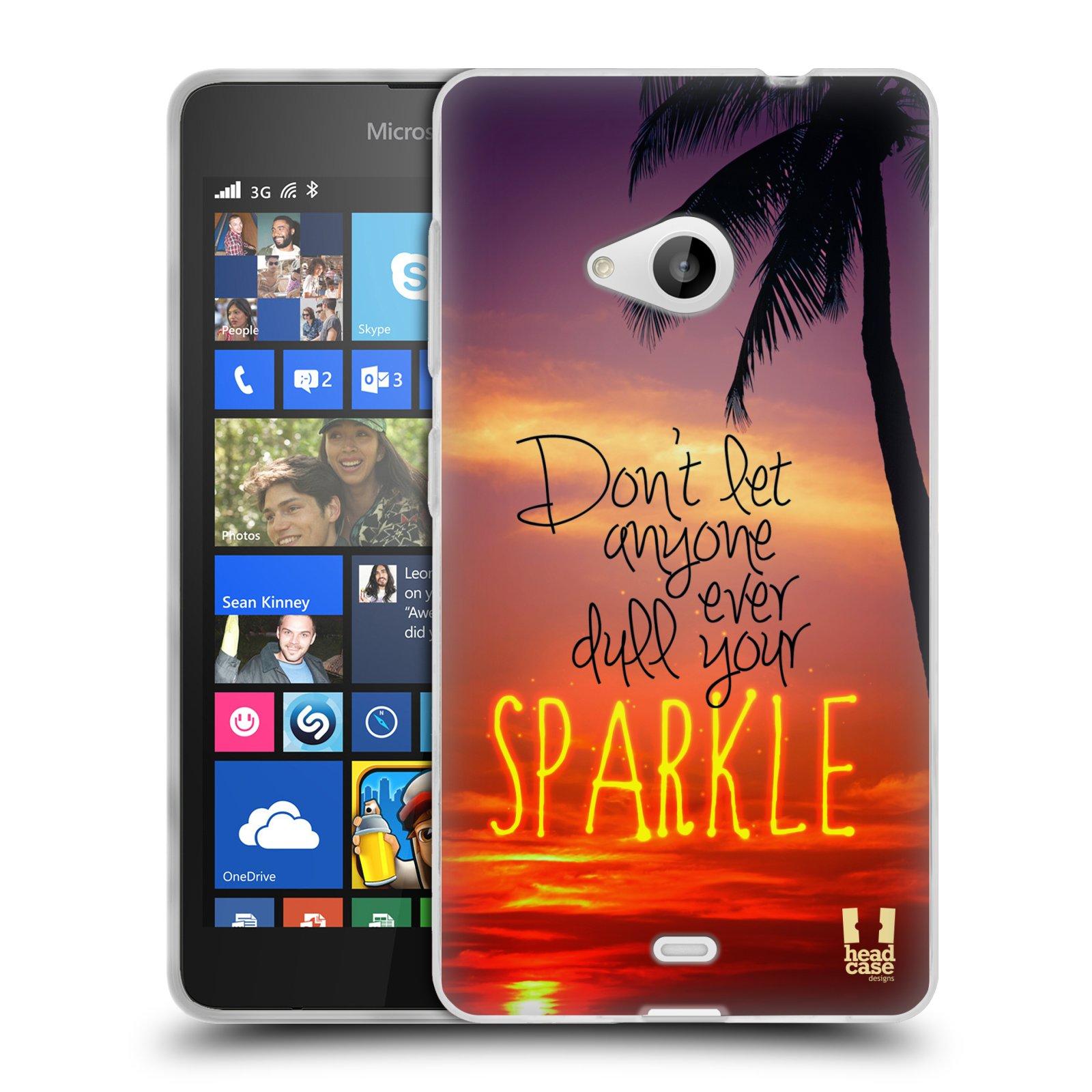 Silikonové pouzdro na mobil Microsoft Lumia 535 HEAD CASE SPARKLE (Silikonový kryt či obal na mobilní telefon Microsoft Lumia 535)