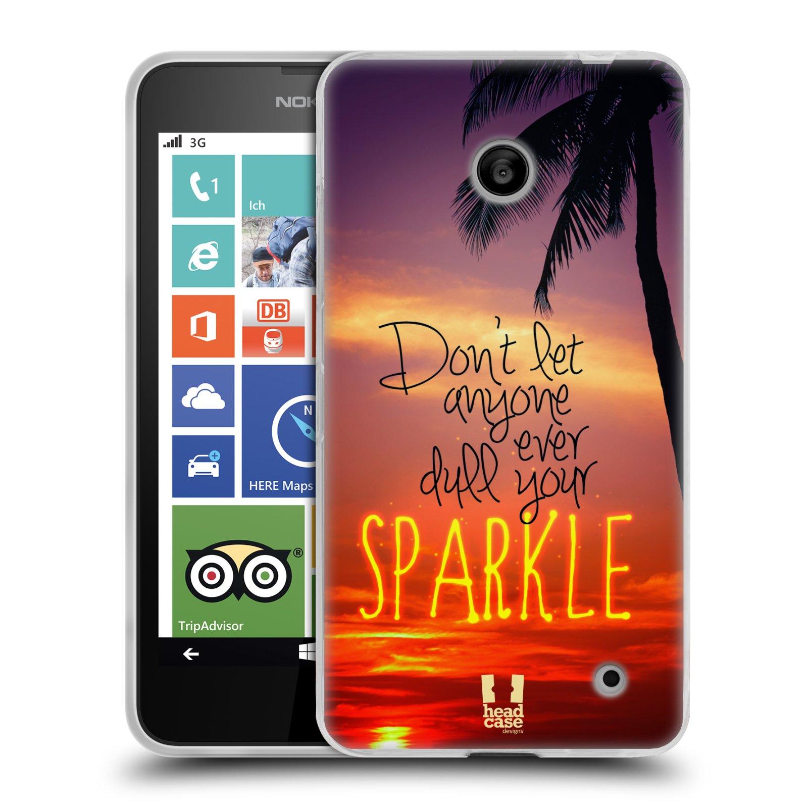 Silikonové pouzdro na mobil Nokia Lumia 630 HEAD CASE SPARKLE (Silikonový kryt či obal na mobilní telefon Nokia Lumia 630 a Nokia Lumia 630 Dual SIM)