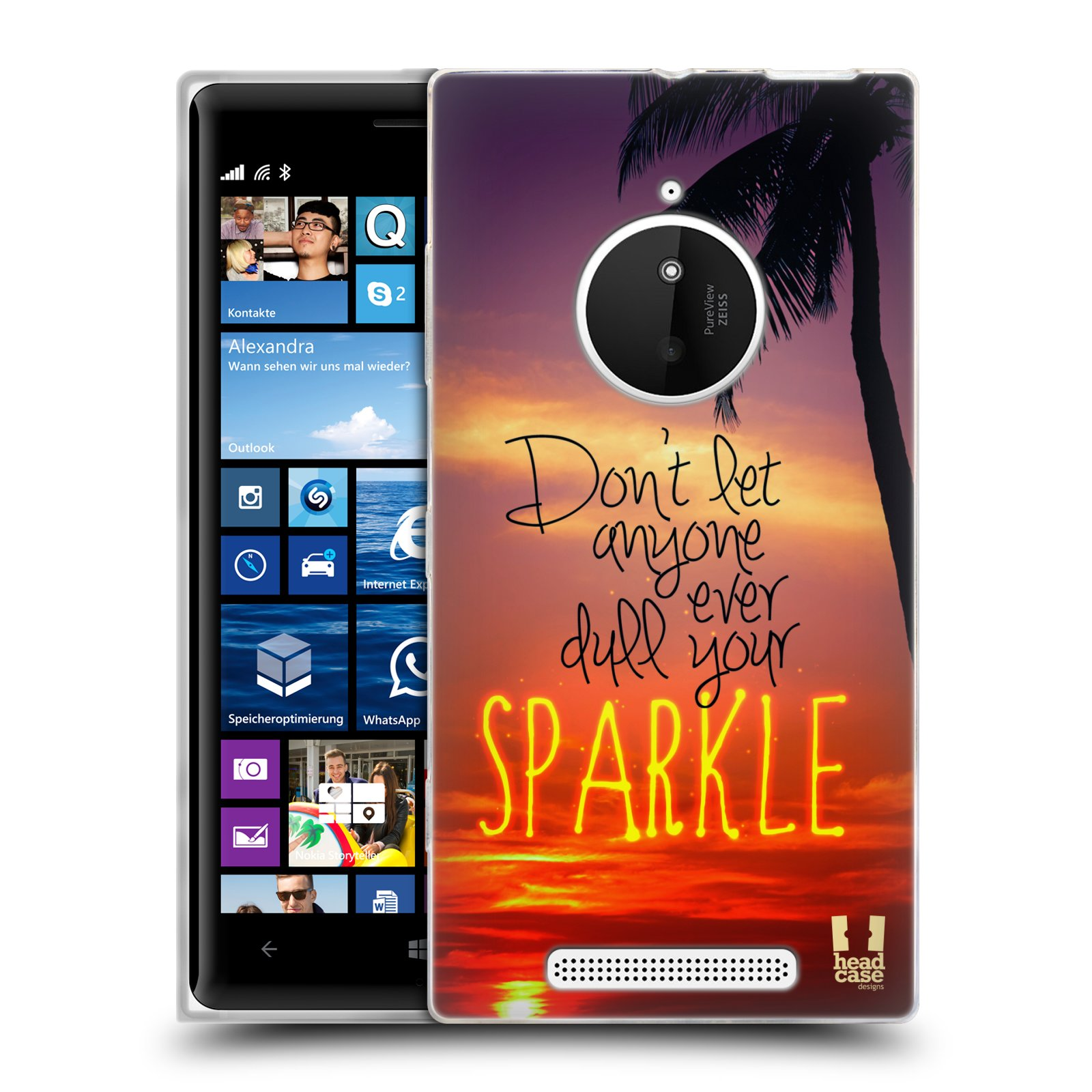 Silikonové pouzdro na mobil Nokia Lumia 830 HEAD CASE SPARKLE (Silikonový kryt či obal na mobilní telefon Nokia Lumia 830)
