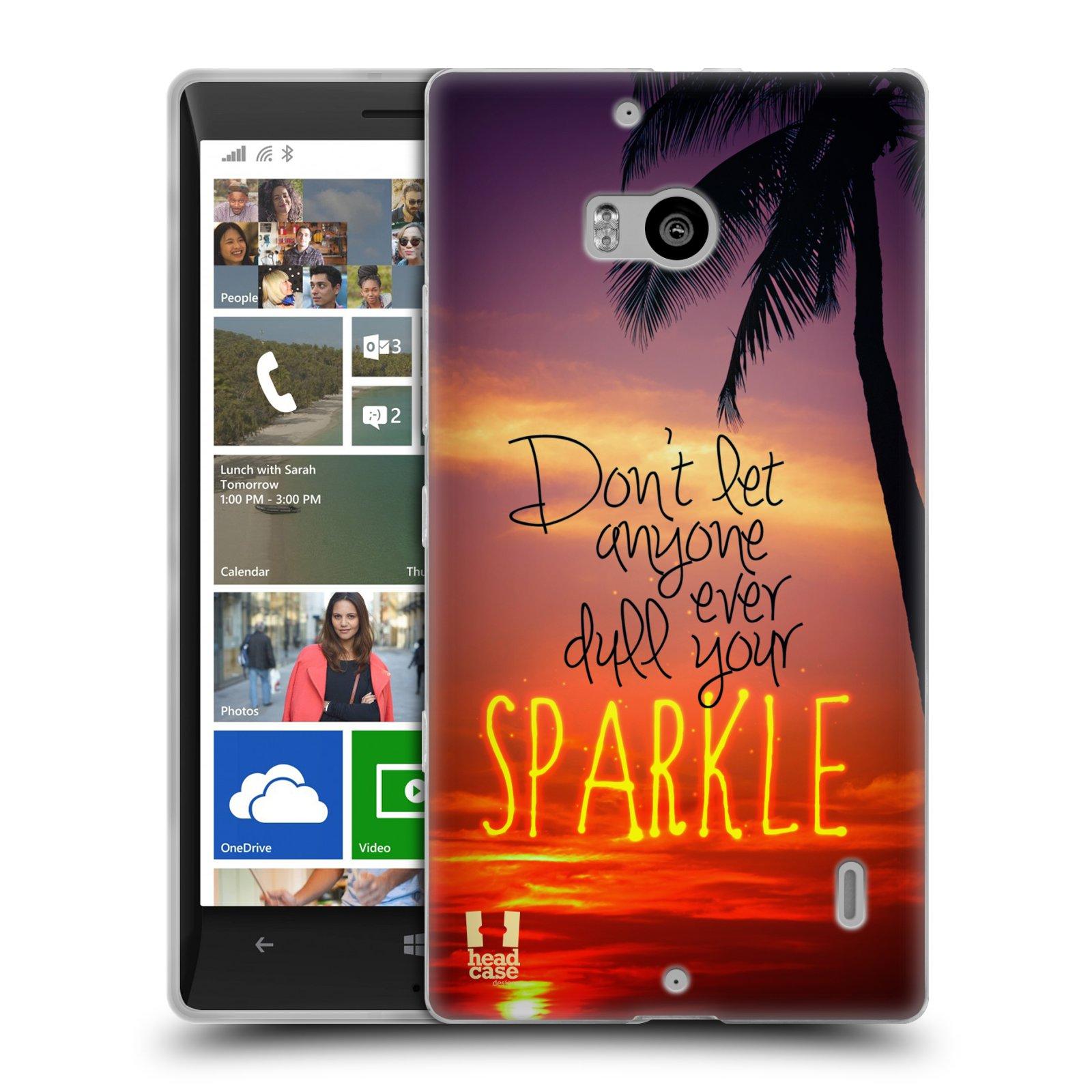 Silikonové pouzdro na mobil Nokia Lumia 930 HEAD CASE SPARKLE (Silikonový kryt či obal na mobilní telefon Nokia Lumia 930)
