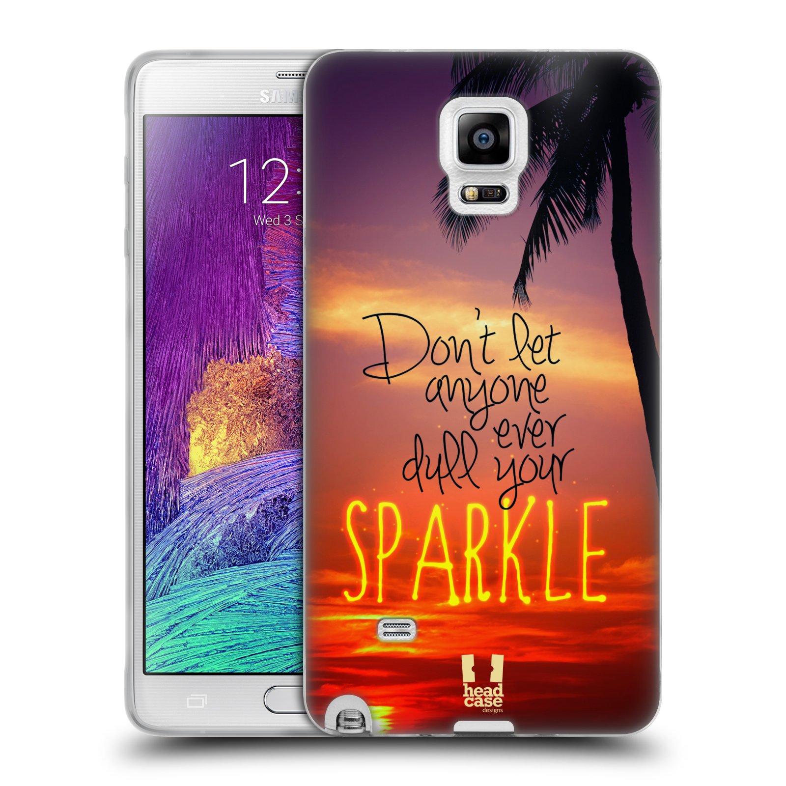 Silikonové pouzdro na mobil Samsung Galaxy Note 4 HEAD CASE SPARKLE (Silikonový kryt či obal na mobilní telefon Samsung Galaxy Note 4 SM-N910F)